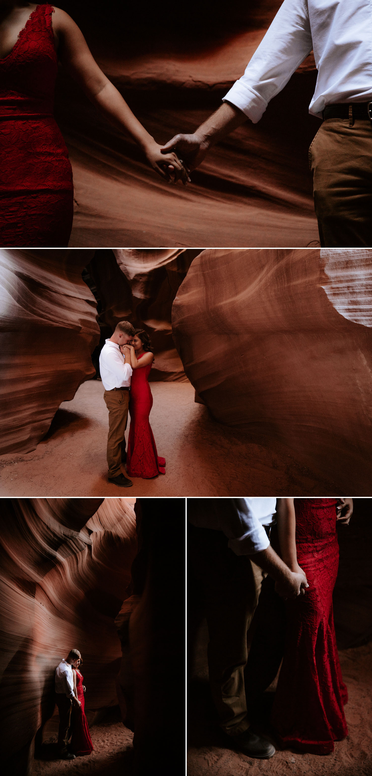 Moody Antelope Canyon engagement session by Paige Nelson Photography
