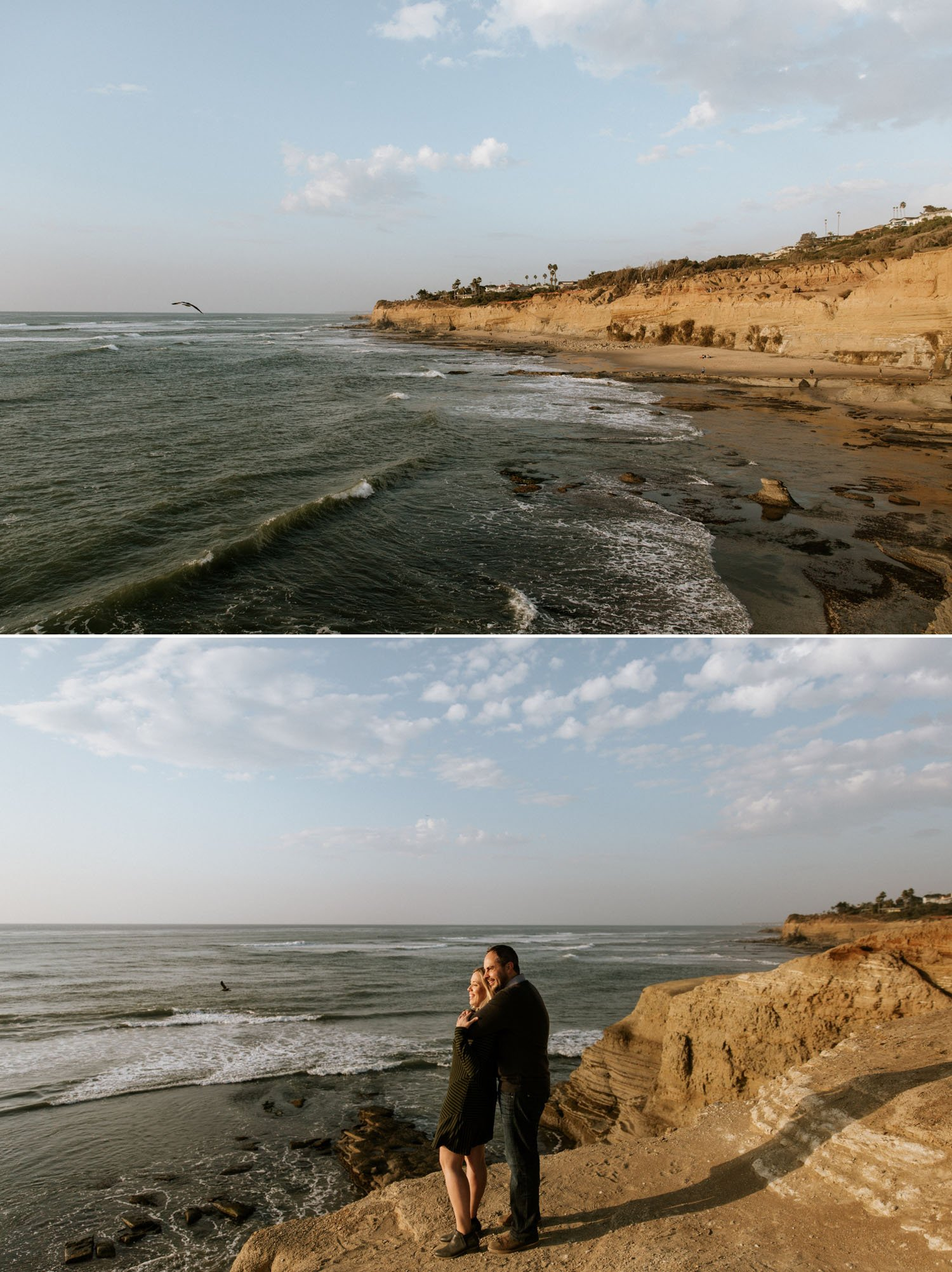 Moody Sunset Cliffs engagement in San Diego by Paige Nelson Photography