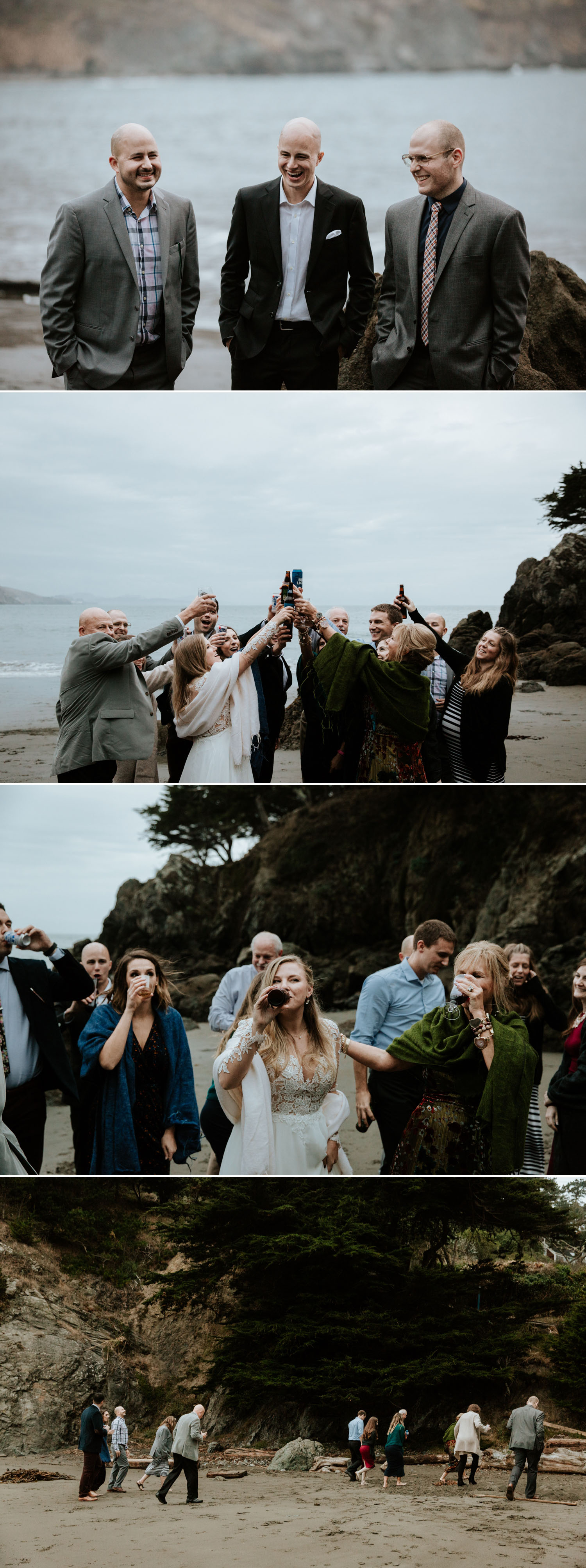 Intimate wedding at Muir Beach in San Francisco by Paige Nelson