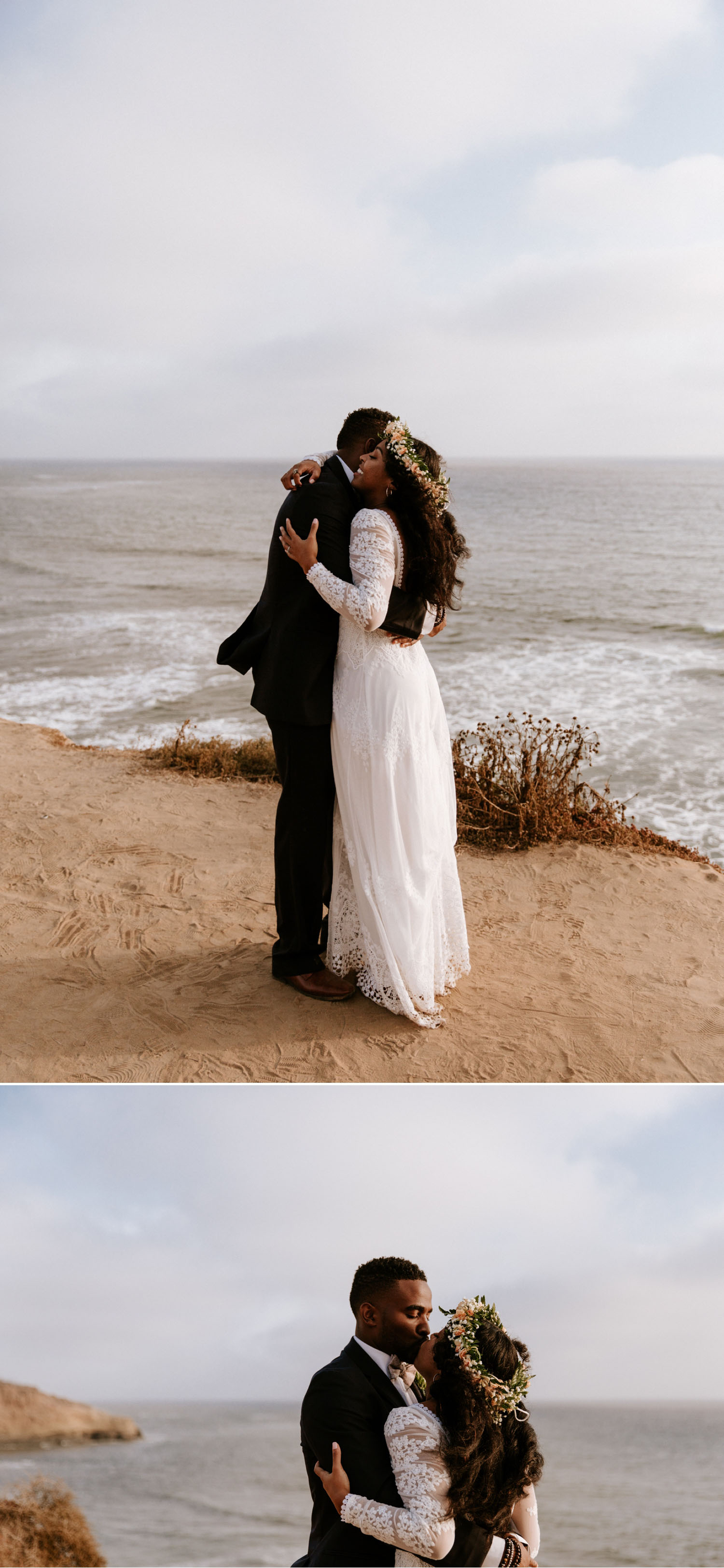 Bohemian Sunset Cliffs wedding in San Diego by Paige Nelson