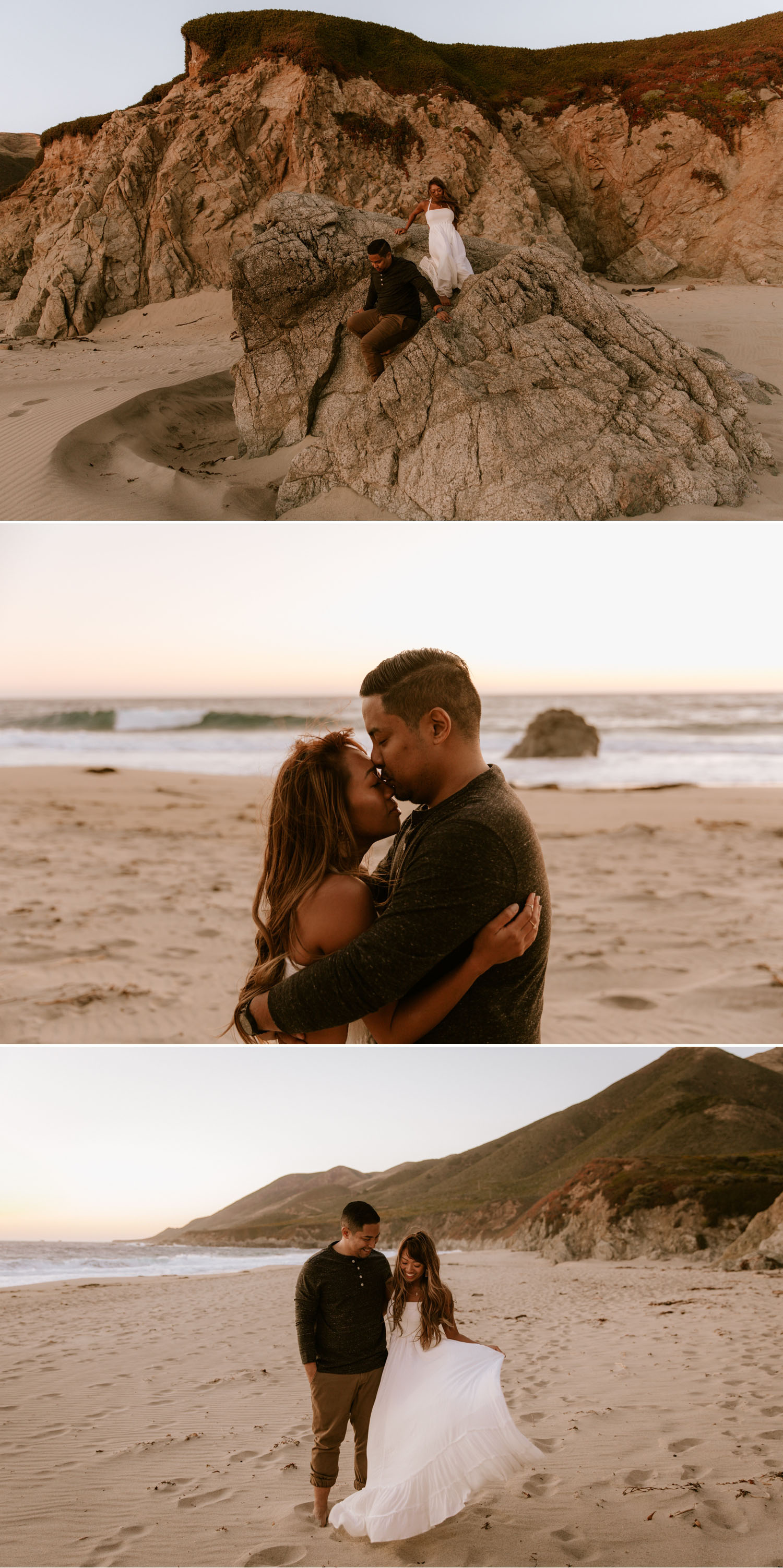 Coastal engagement session in Big Sur, California by Paige Nelson