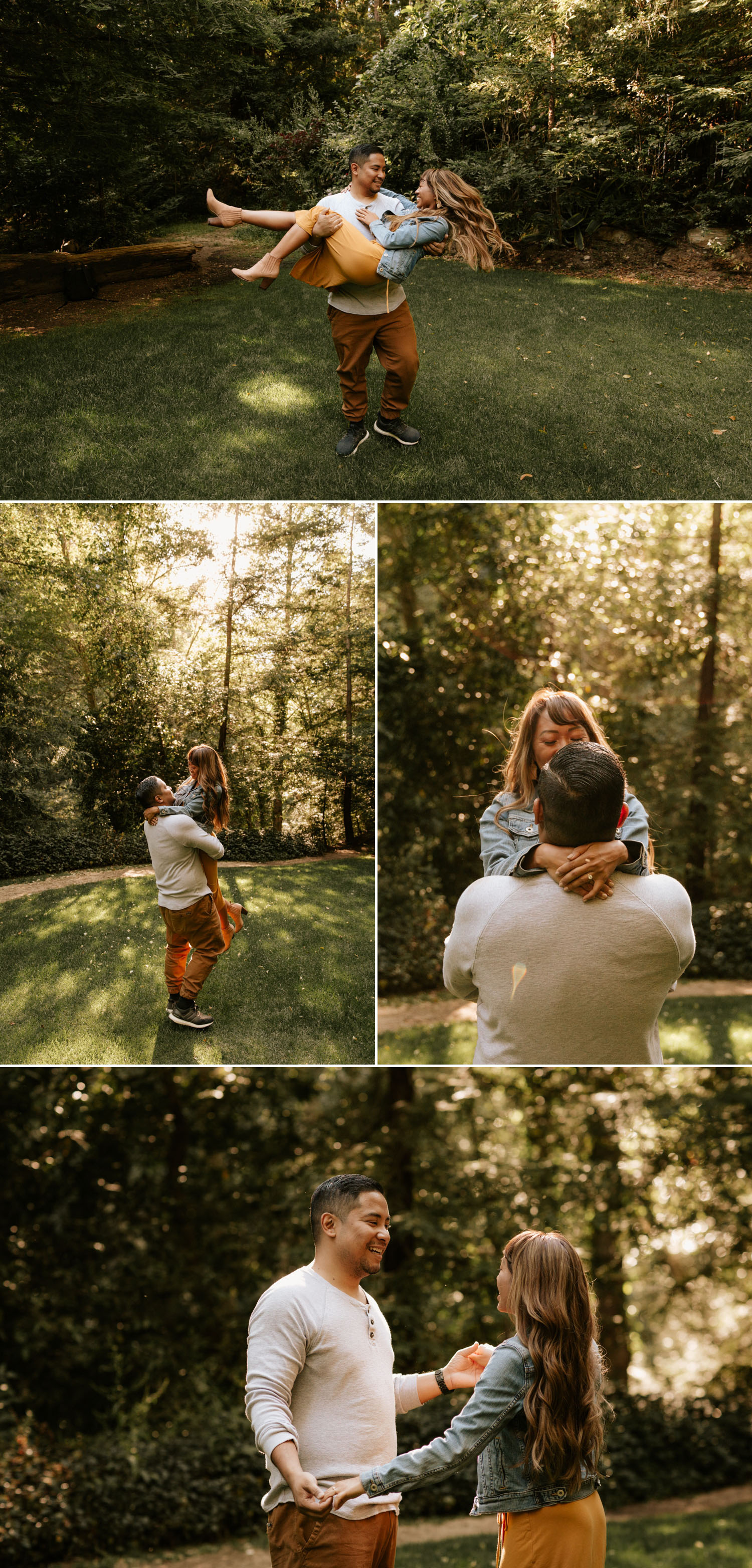 Redwood Forest engagement in Big Sur, California by Paige Nelson