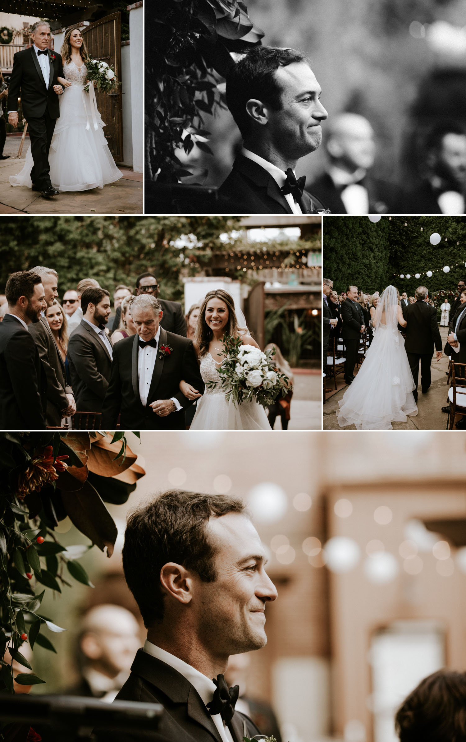 Holiday wedding at Franciscan Gardens in Orange County by Paige Nelson