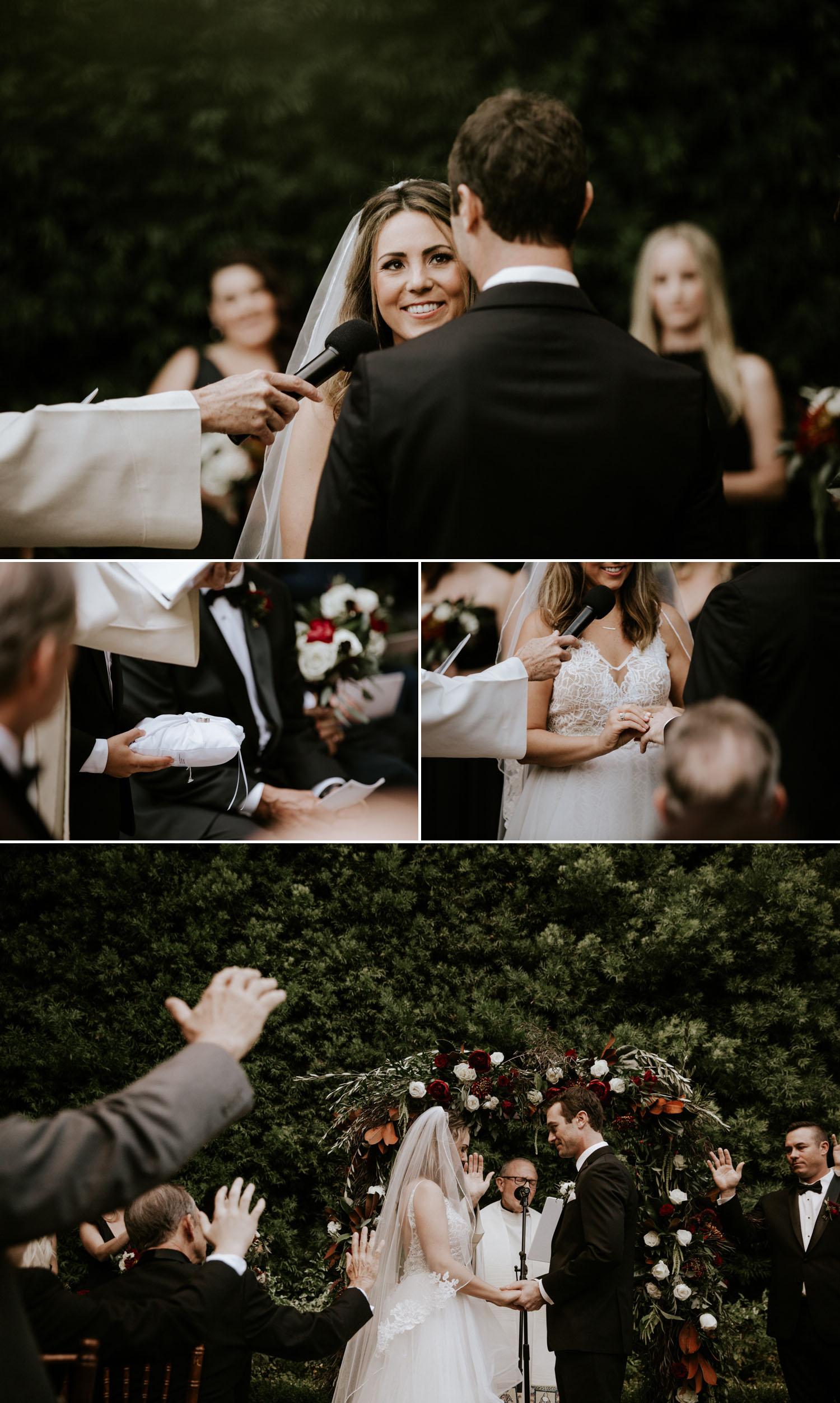 Intimate wedding at Franciscan Gardens in San Juan Capistrano