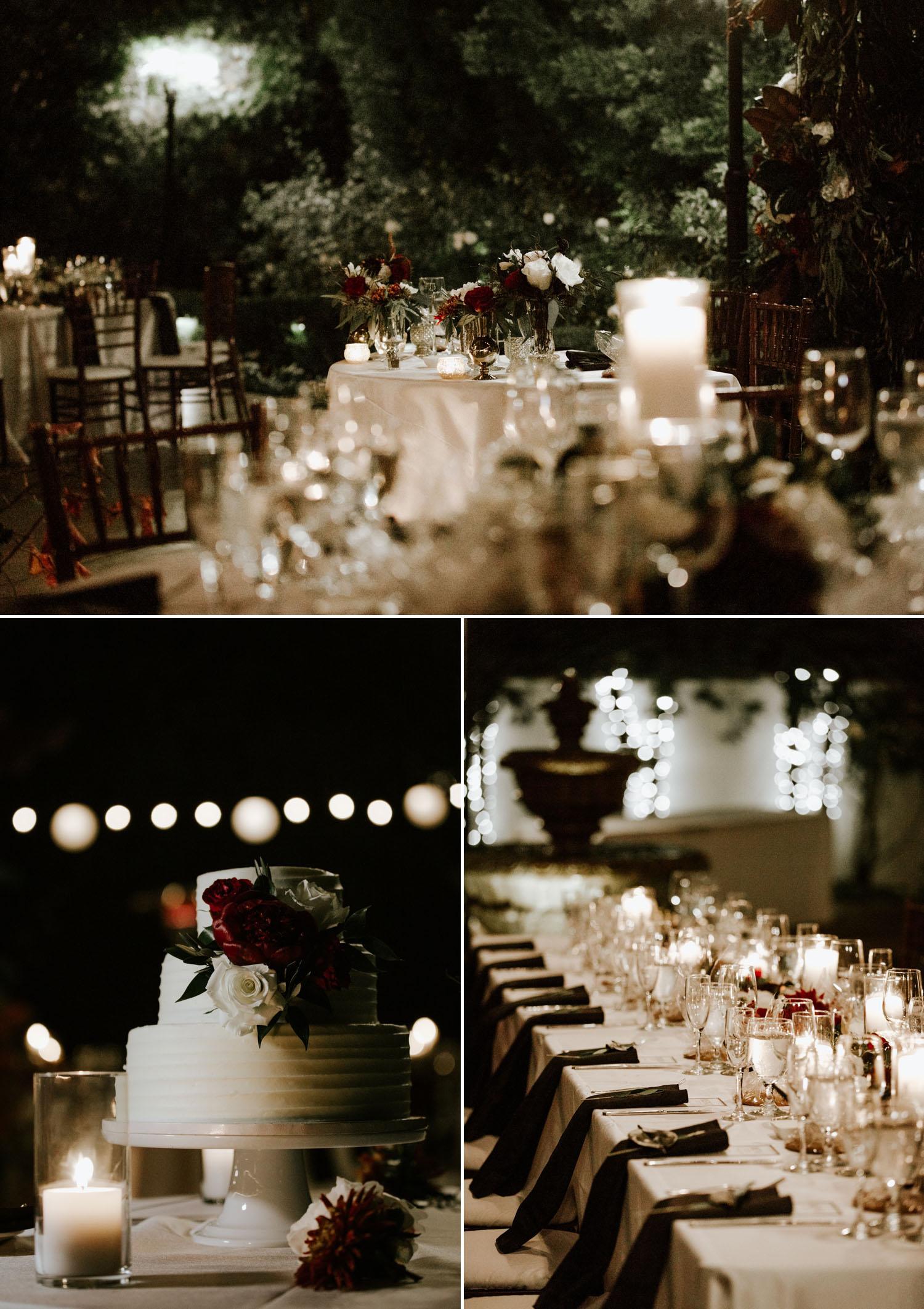 Intimate holiday wedding at Franciscan Gardens