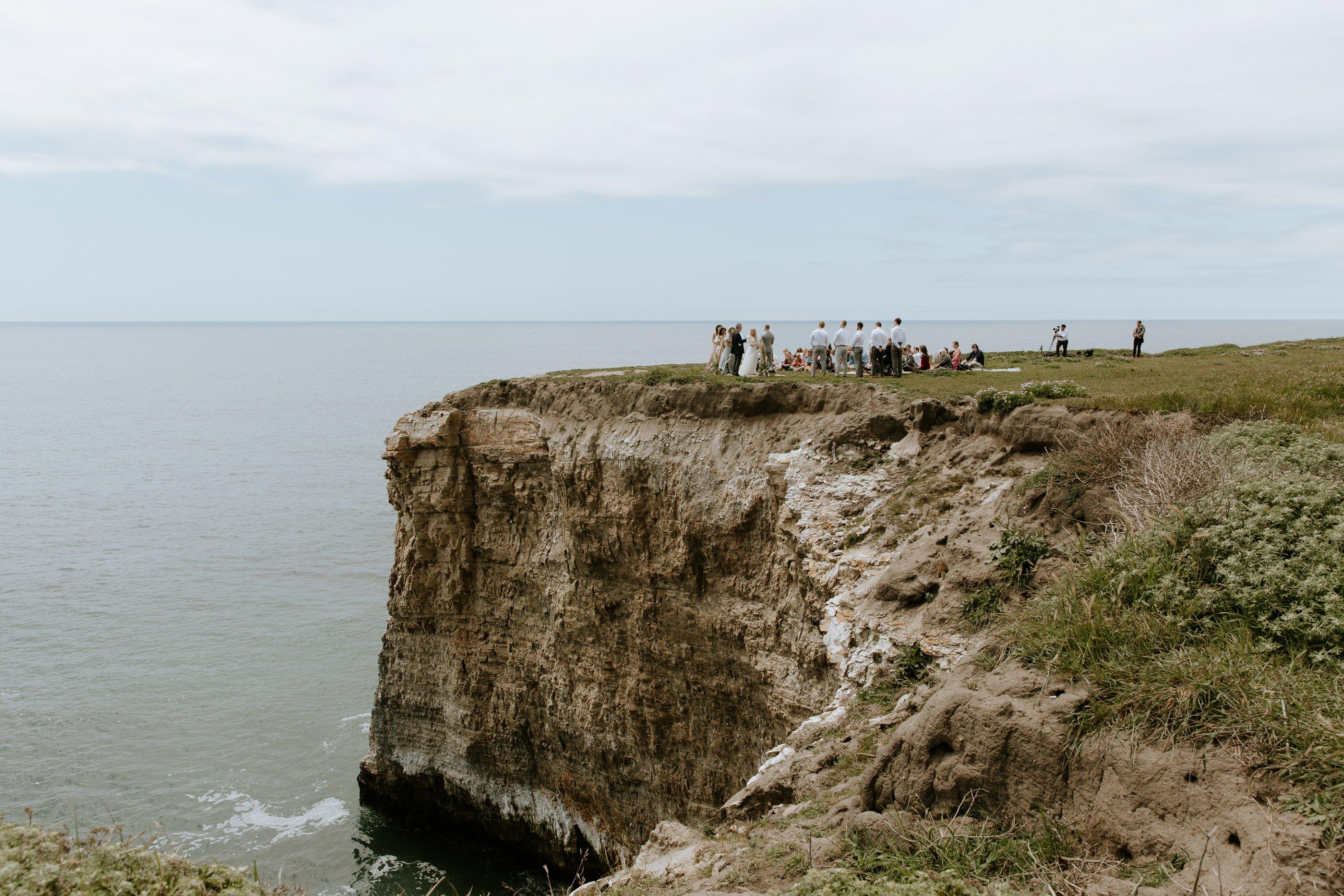 Bohemian cliffside elopement in Davenport Paige Nelson