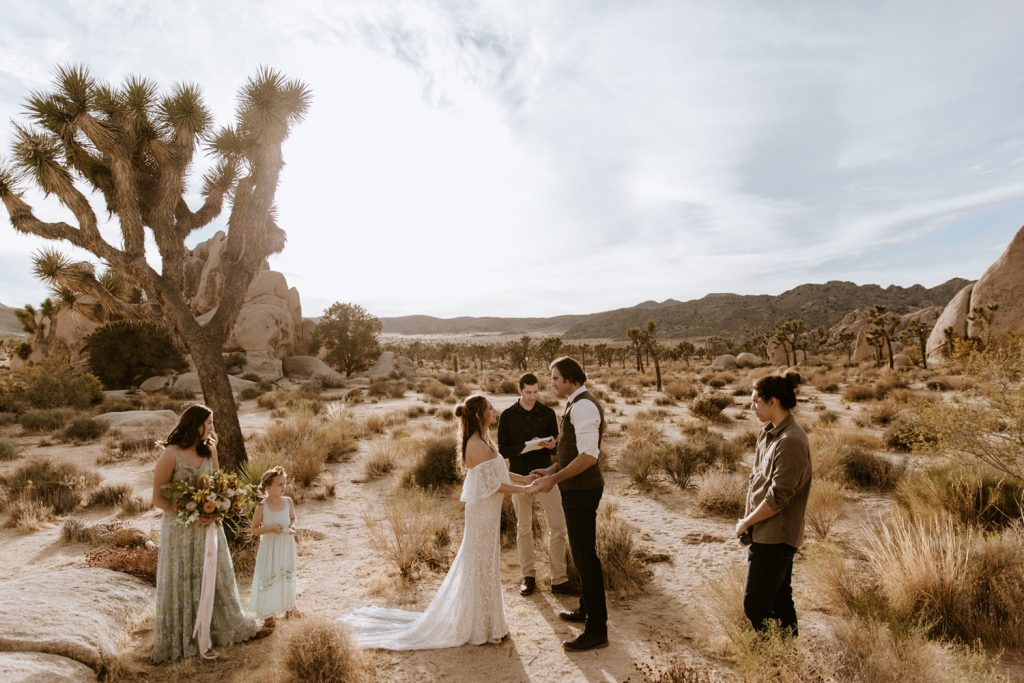 Intimate joshua tree wedding