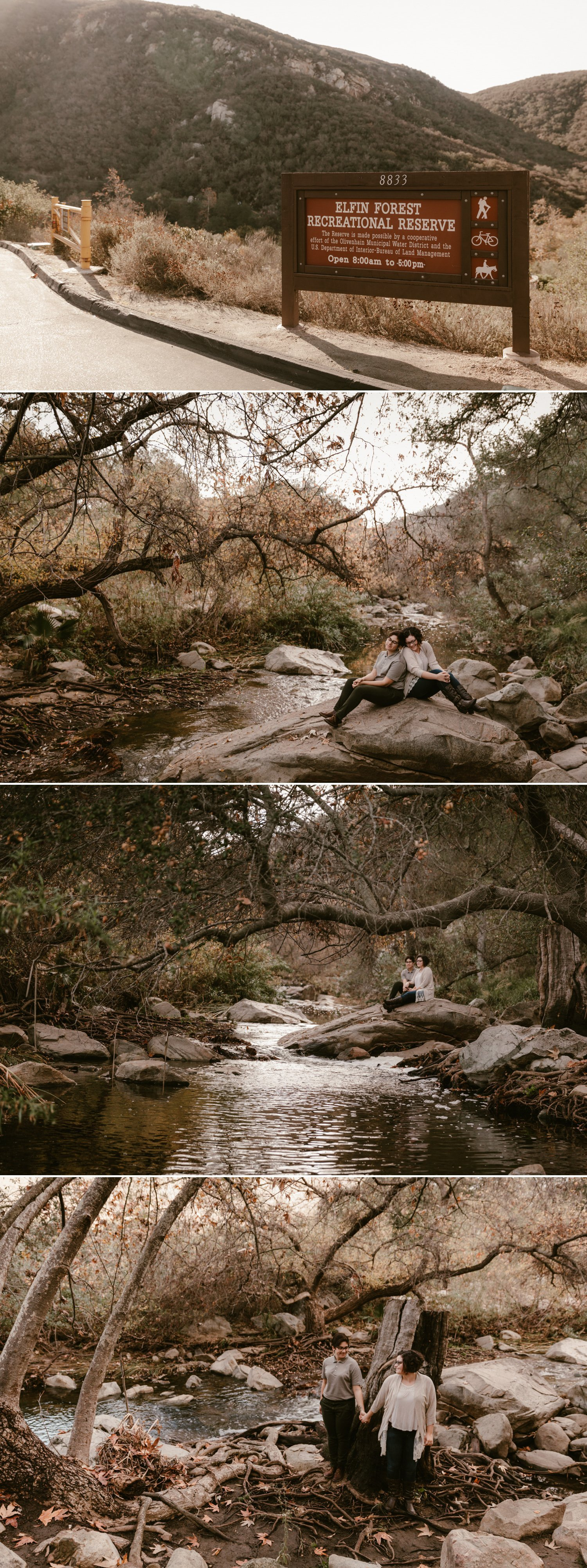 Same sex Elfin Forest engagement in San Diego by Paige Nelson