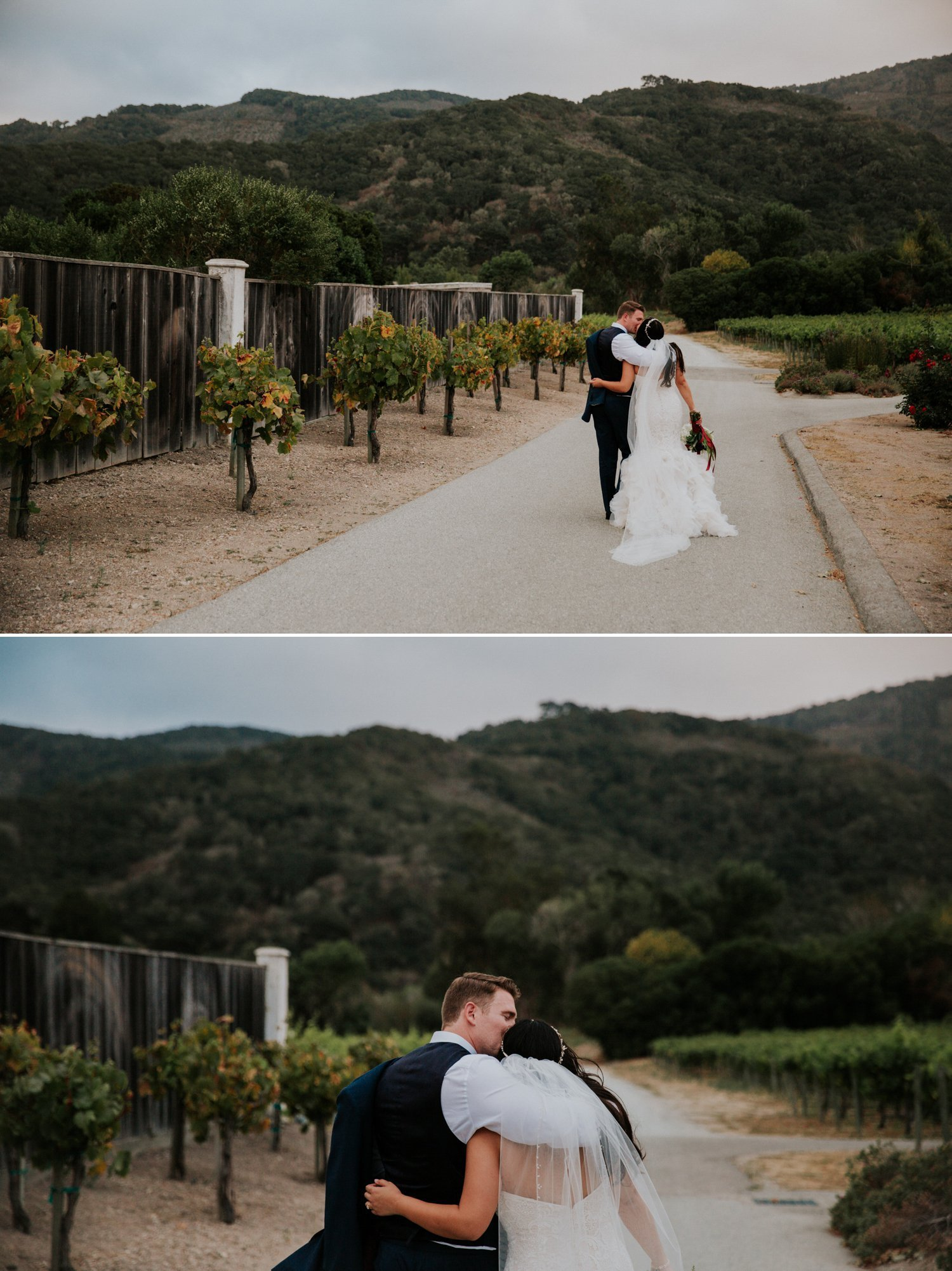 Carmel wedding at vineyard Paige Nelson