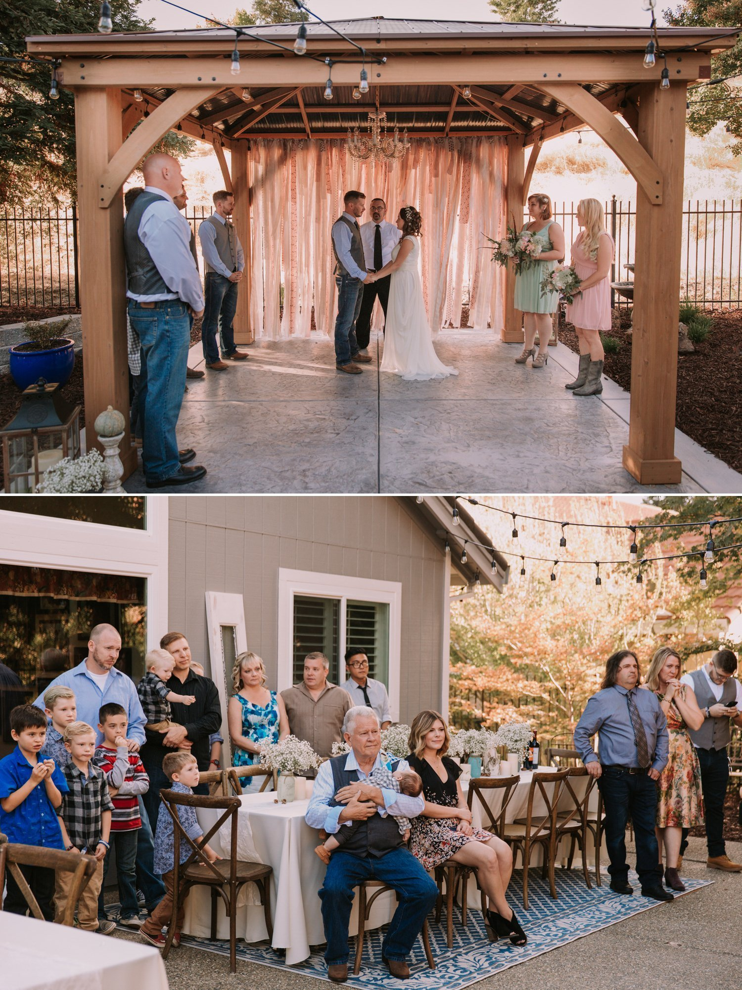 DIY Northern California Backyard wedding