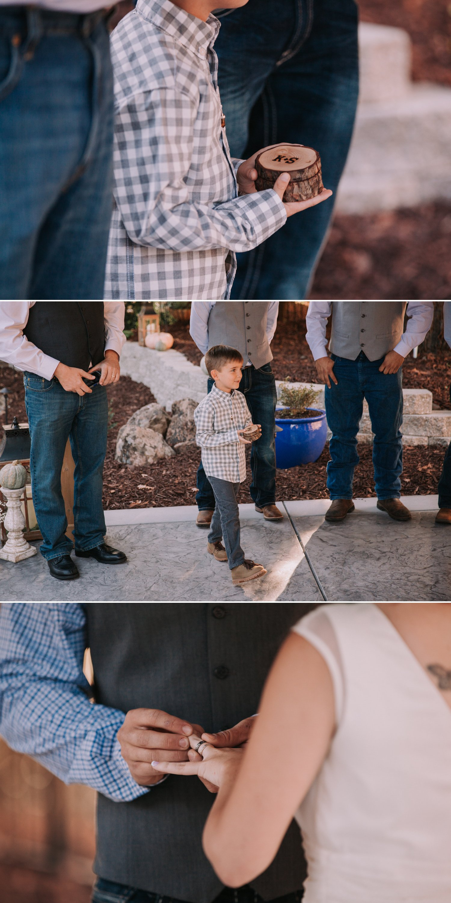 Backyard intimate wedding Paige Nelson