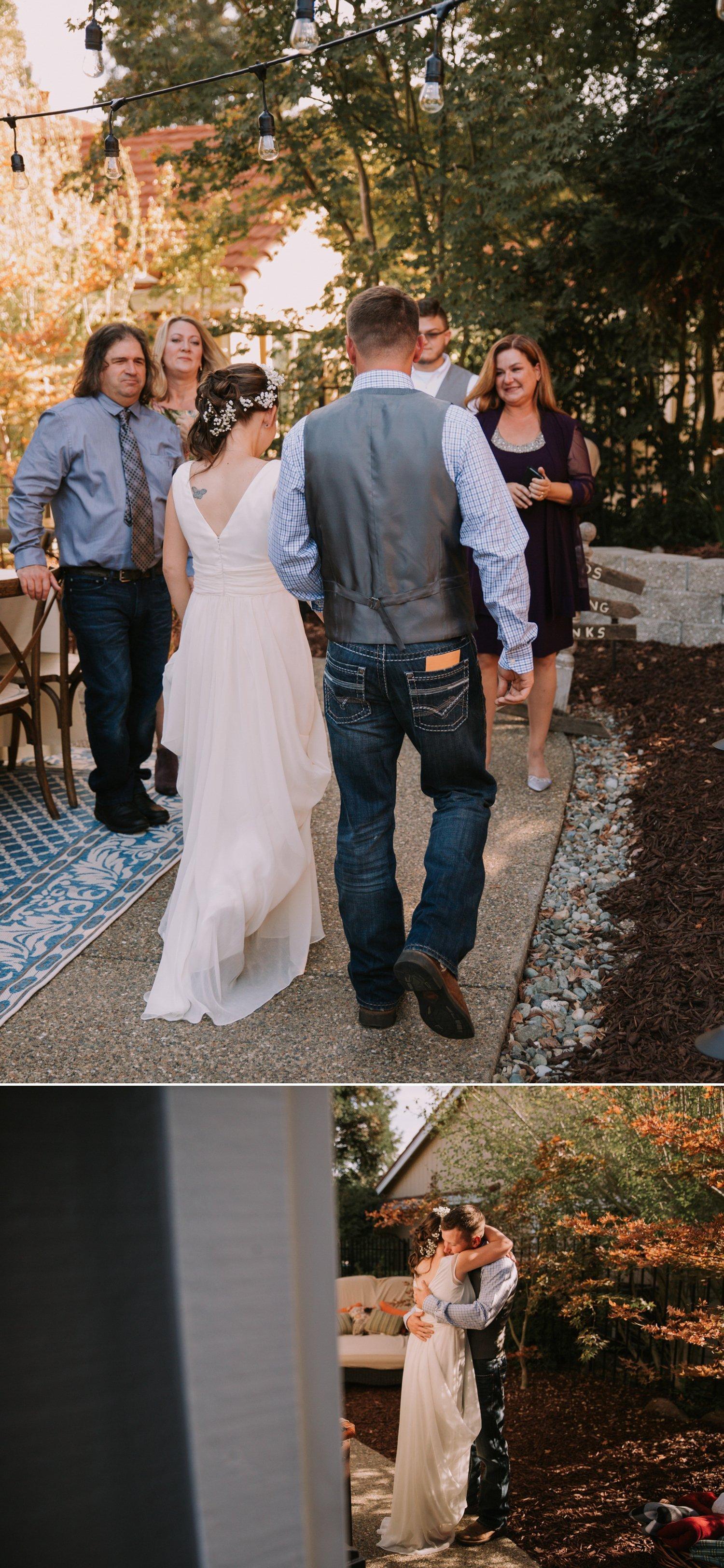 Backyard intimate wedding Paige Nelson