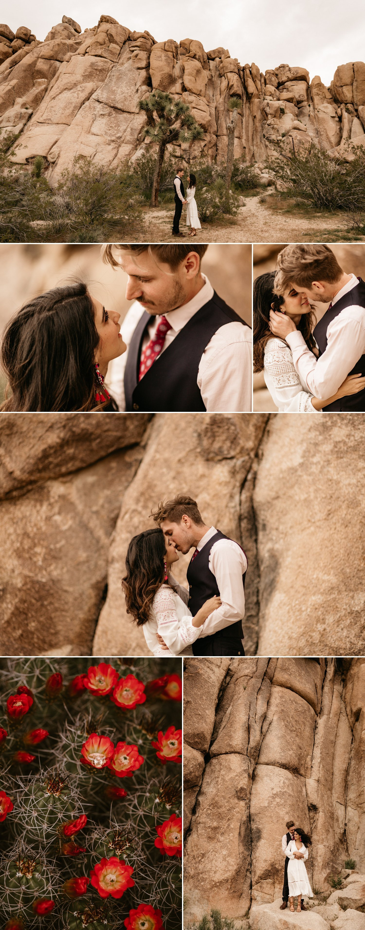 Desert engagement in Joshua Tree