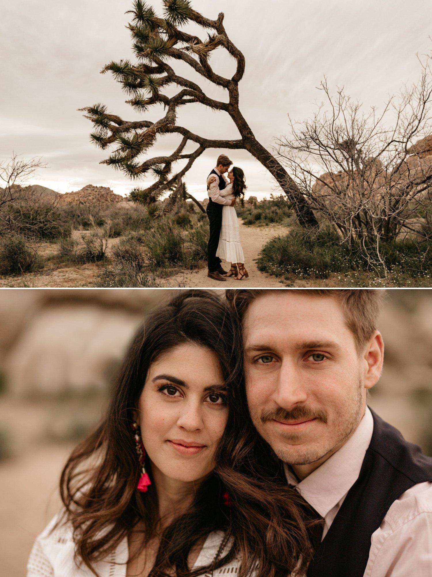 Desert engagement in Joshua Tree