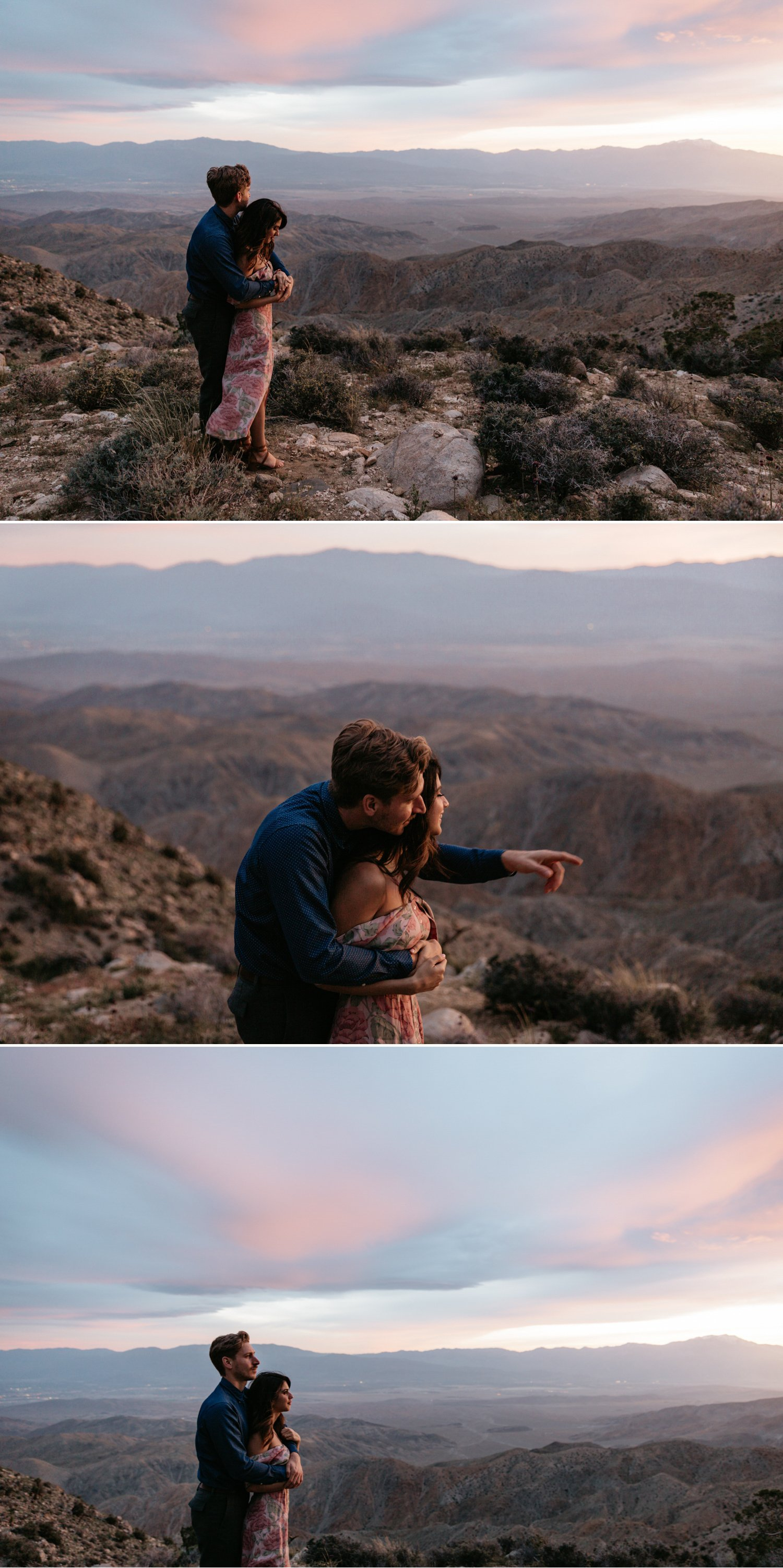 Keys View Joshua Tree engagement