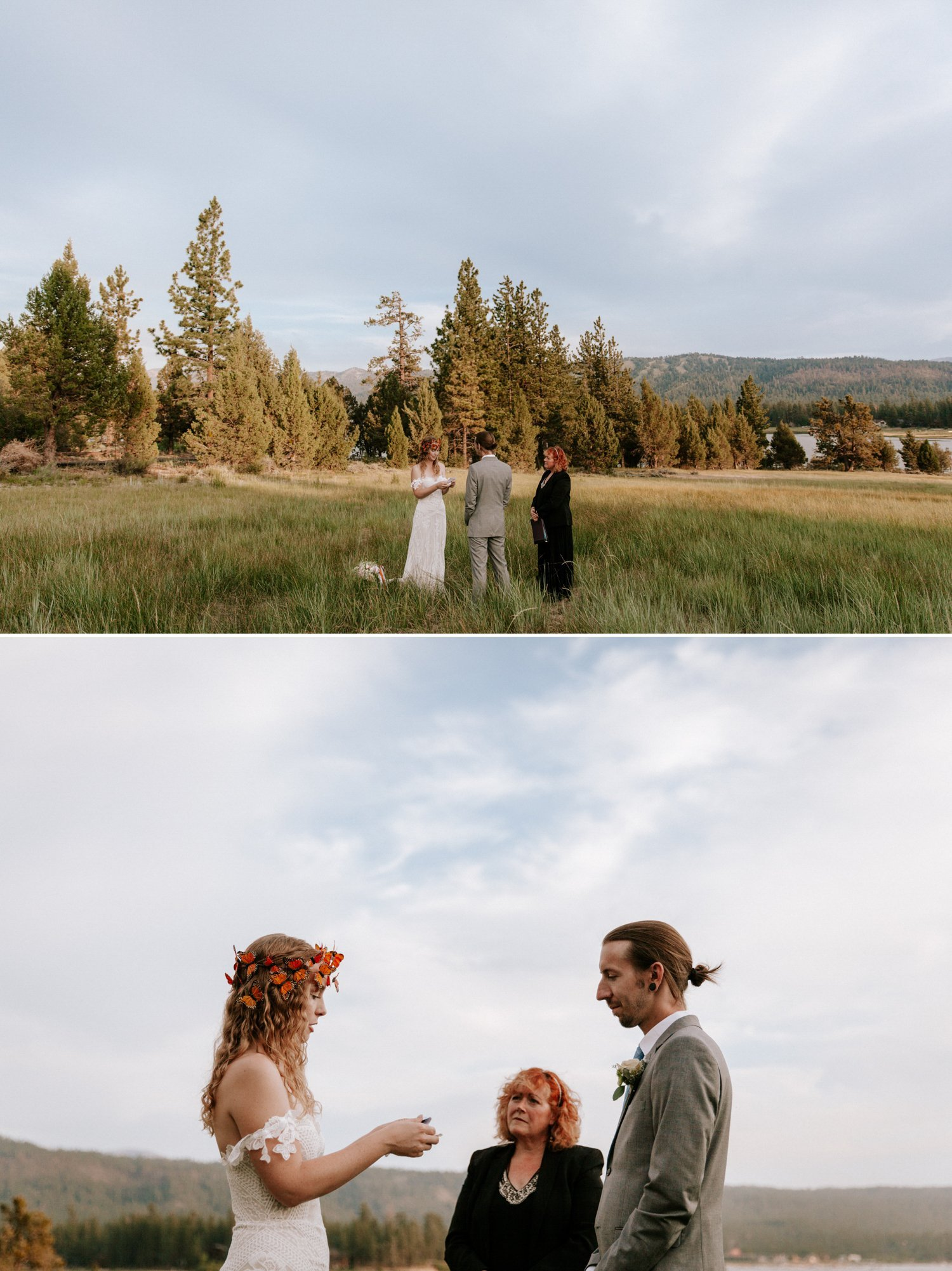 Lakeside Big Bear elopement Haley Andy