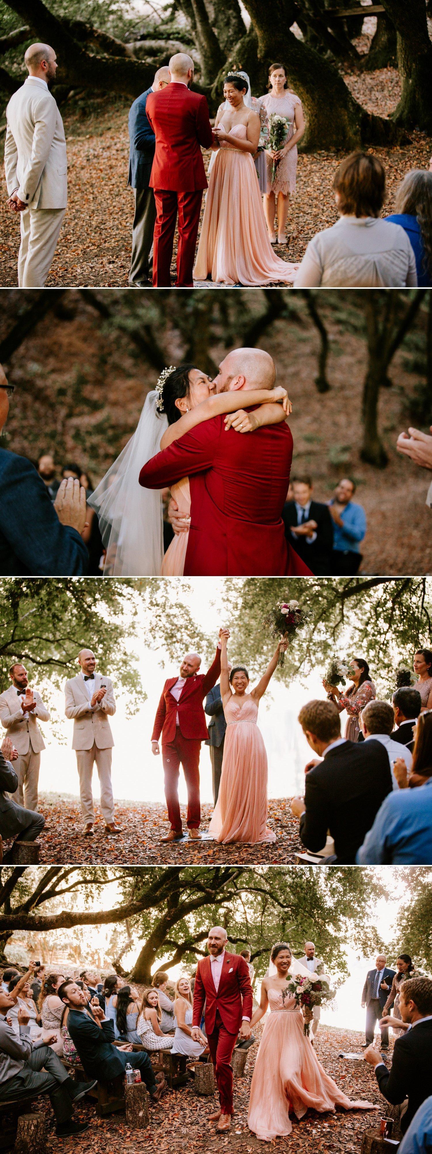 Redwood wedding at Leonard Lake Paige Nelson