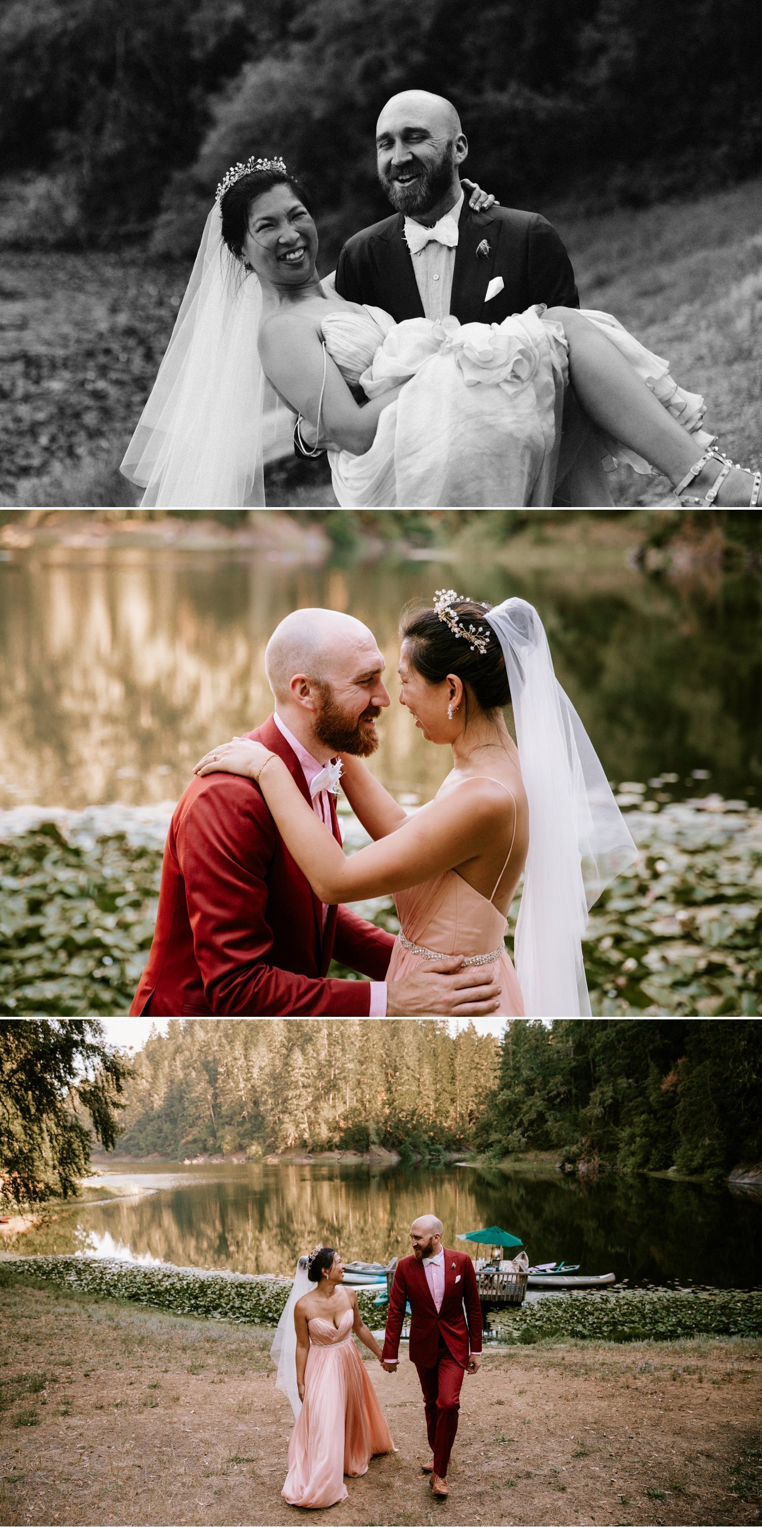 Redwood wedding at Leonard Lake Paige Nelson