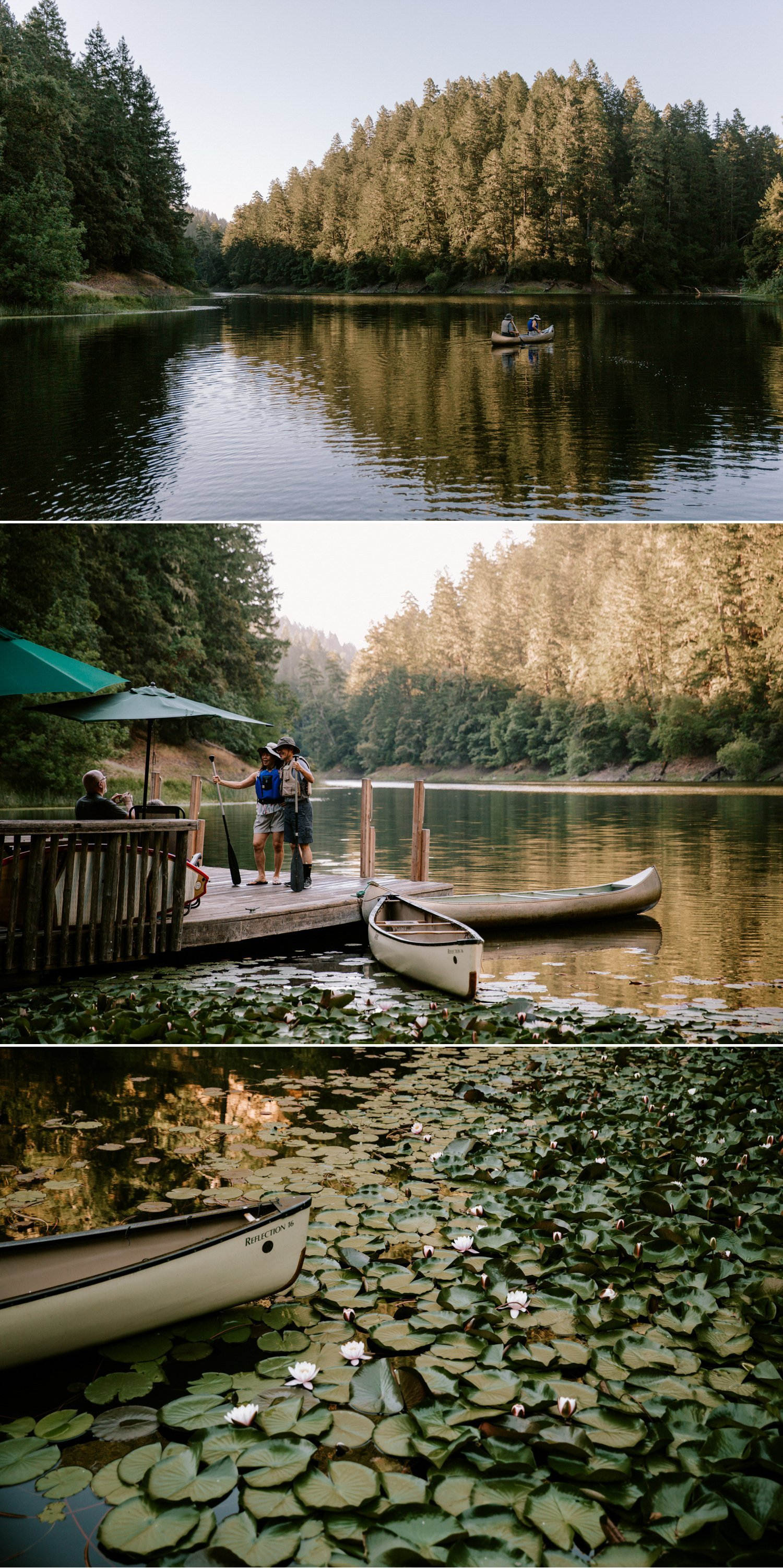 Summer camp wedding Leonard Lake Reserve