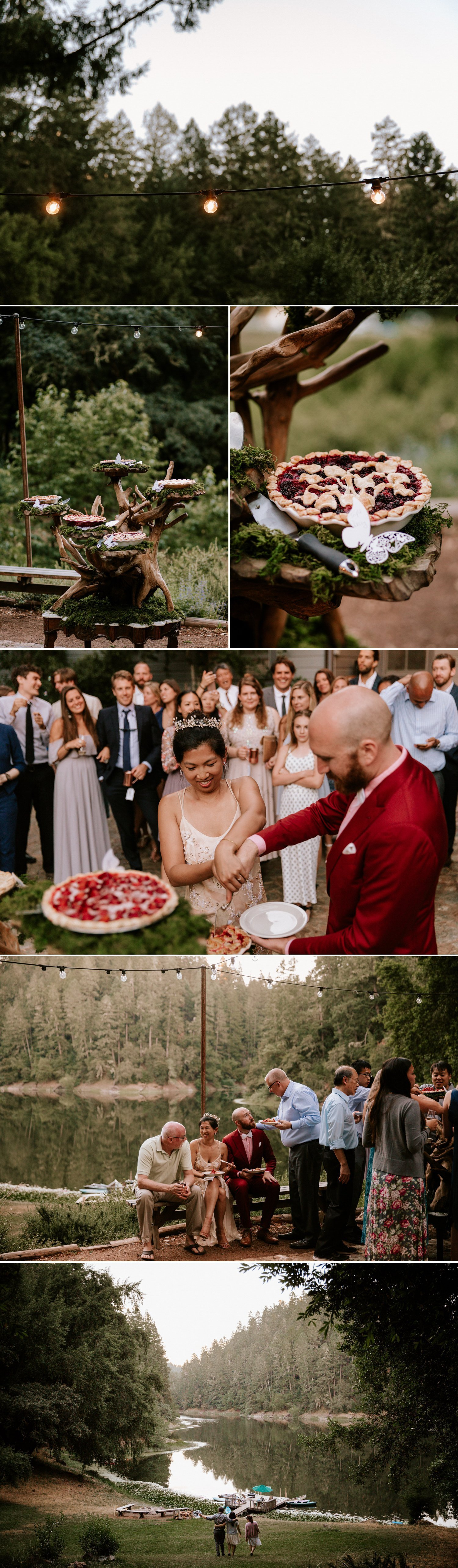 Summer camp wedding at Leonard Lake Reserve