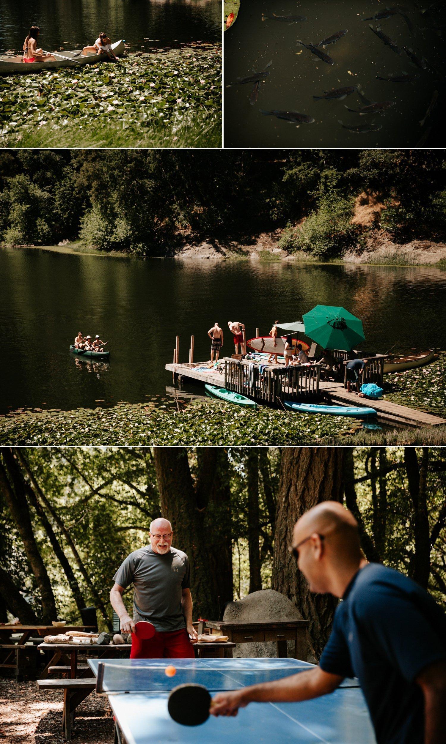 Summer camp wedding at Leonard Lake Reserve