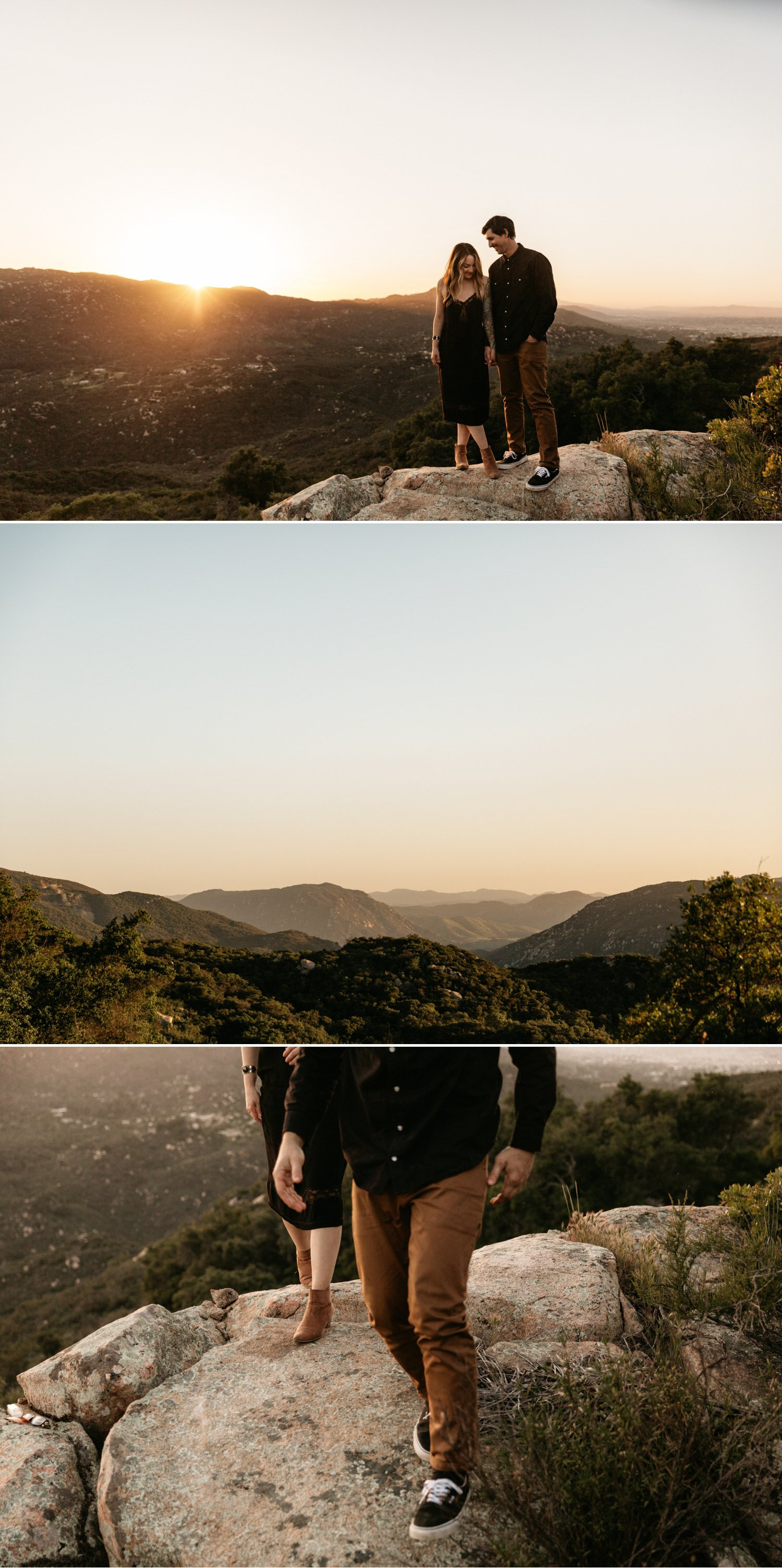 Temecula mountain engagement Paige Nelson