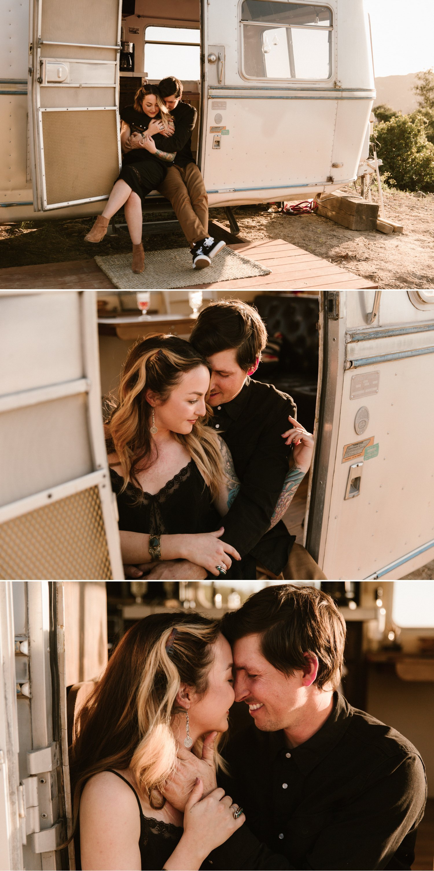 Airstream engagement San Diego Kerri Jared