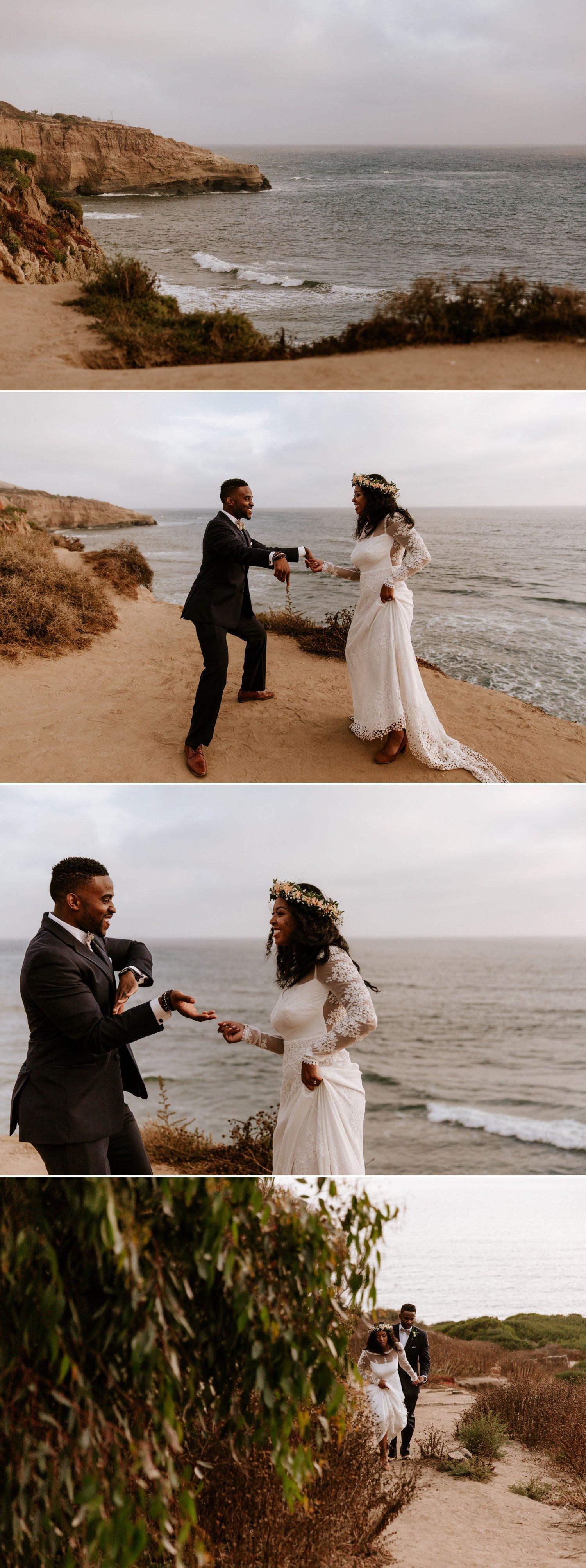 Sunset Cliffs wedding Paige Nelson Photography