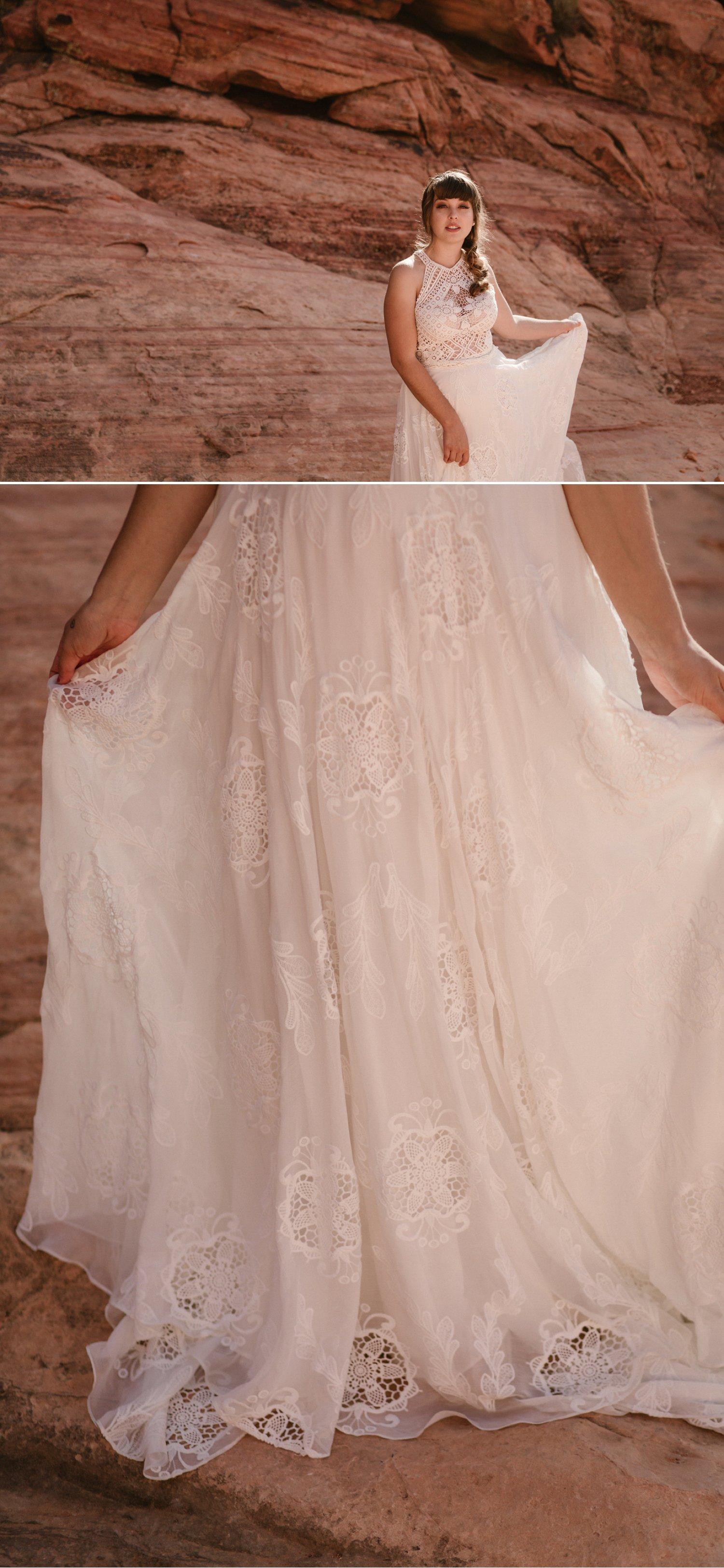 Rue de Seine Raven Gown Boho Wedding Dress
