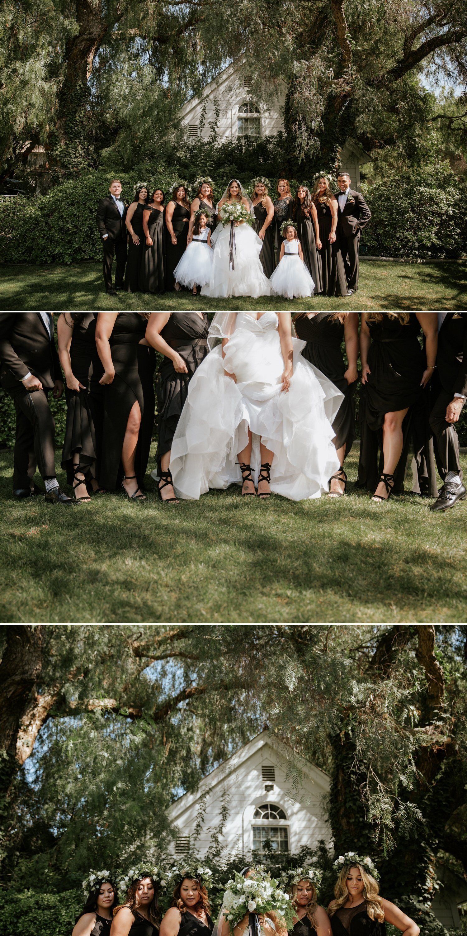All black bridesmaid dress inspiration