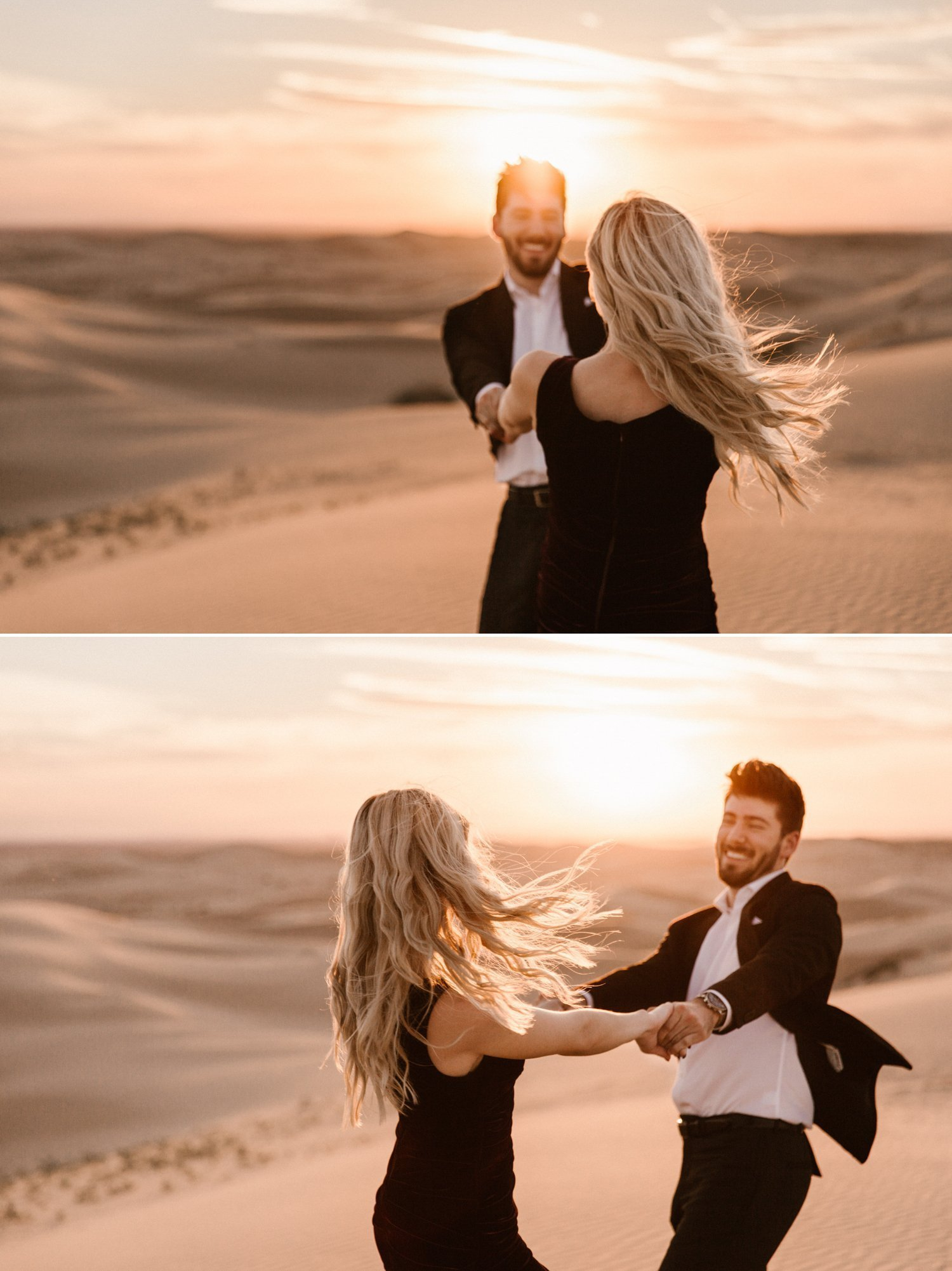 Glamis Sand dunes engagement Austin Kailee