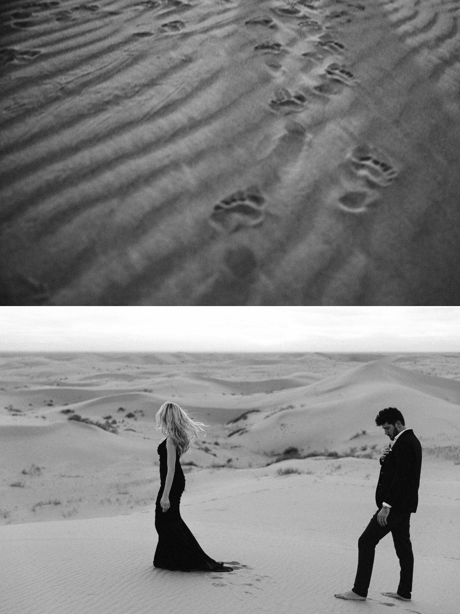 Sand dunes engagement Glamis Paige Nelson