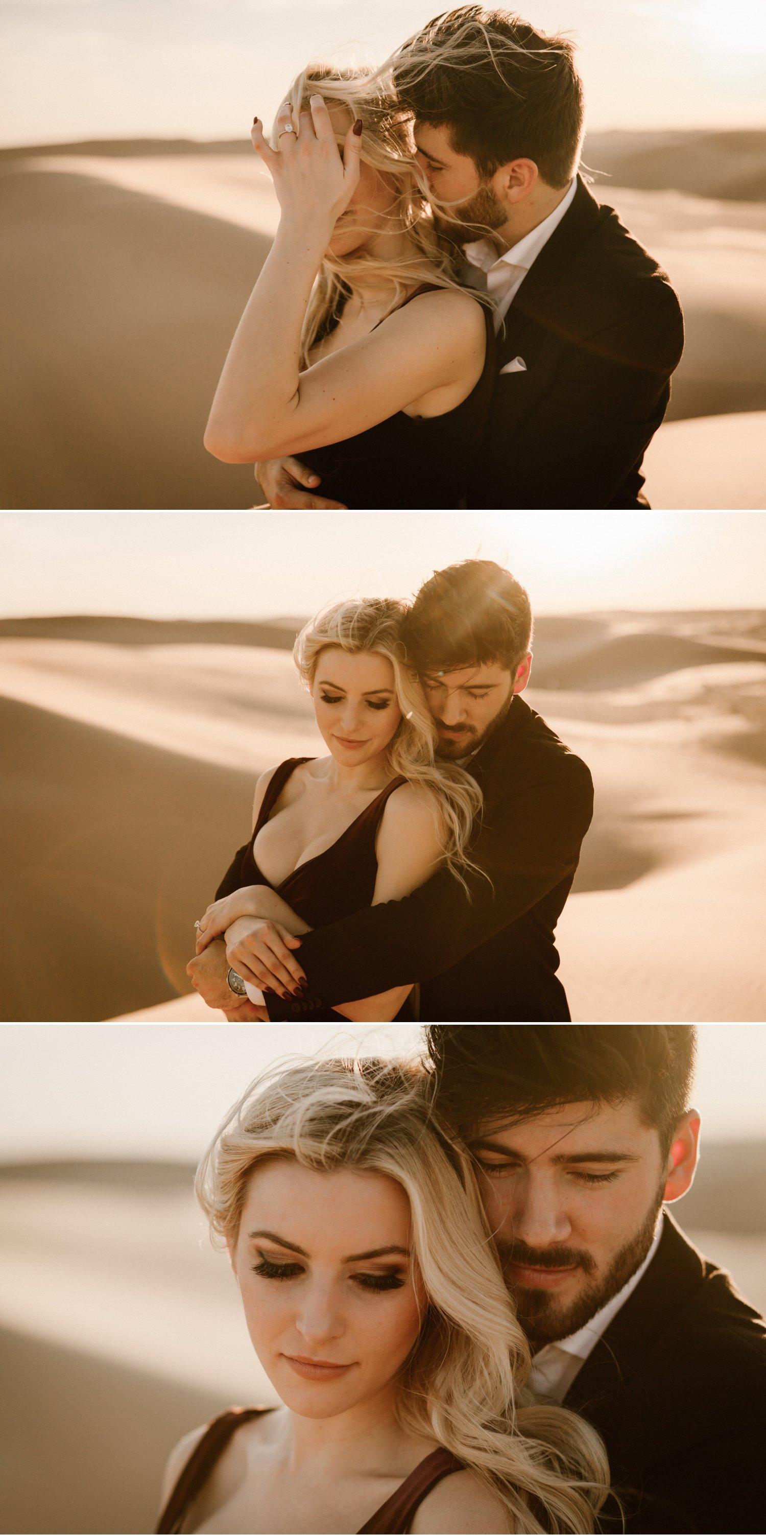 Sand dunes engagement Paige Nelson
