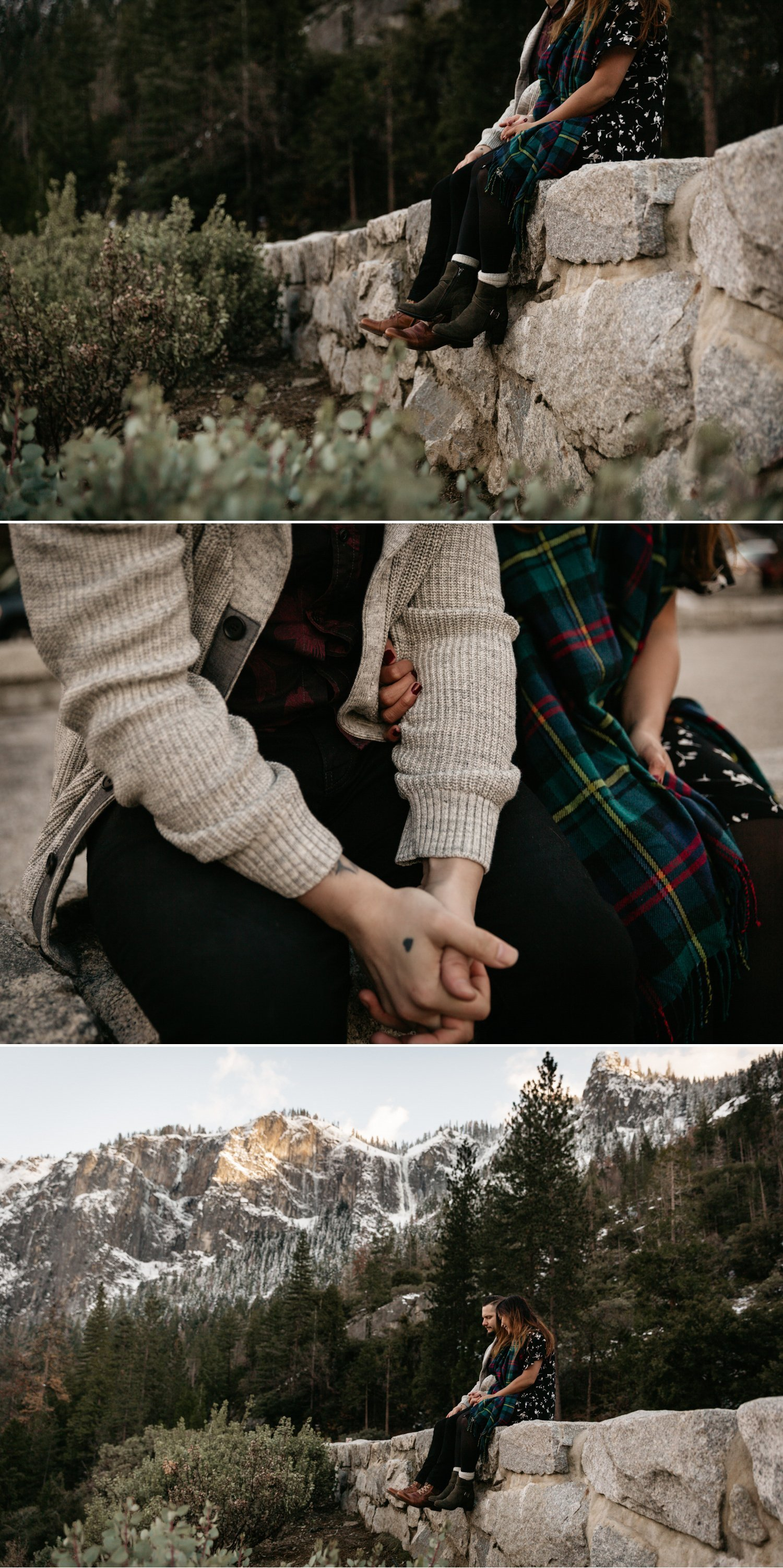 Tunnel view engagement Yosemite