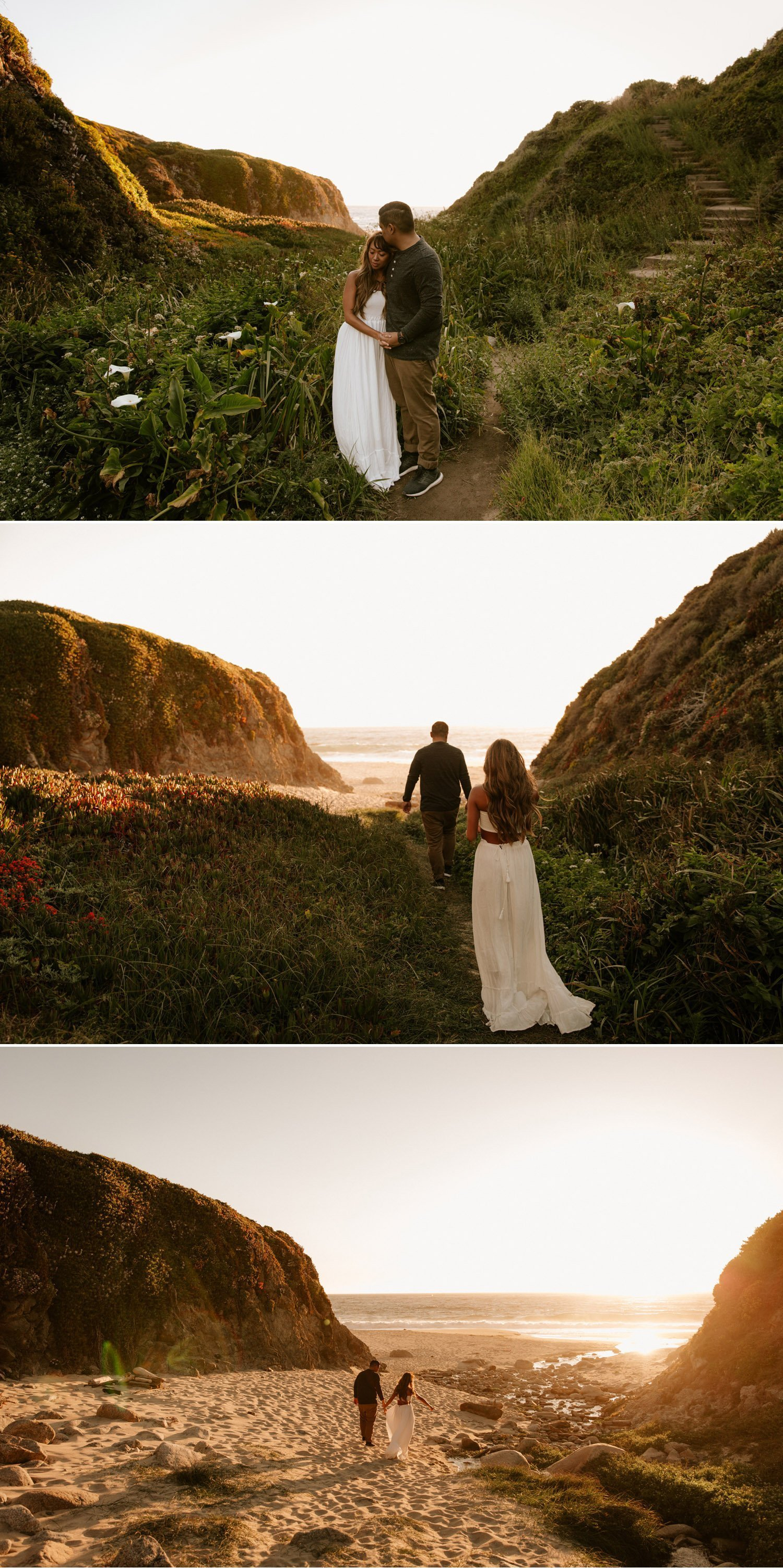 Lilly Valley engagement photos in Big Sur, California by Paige Nelson