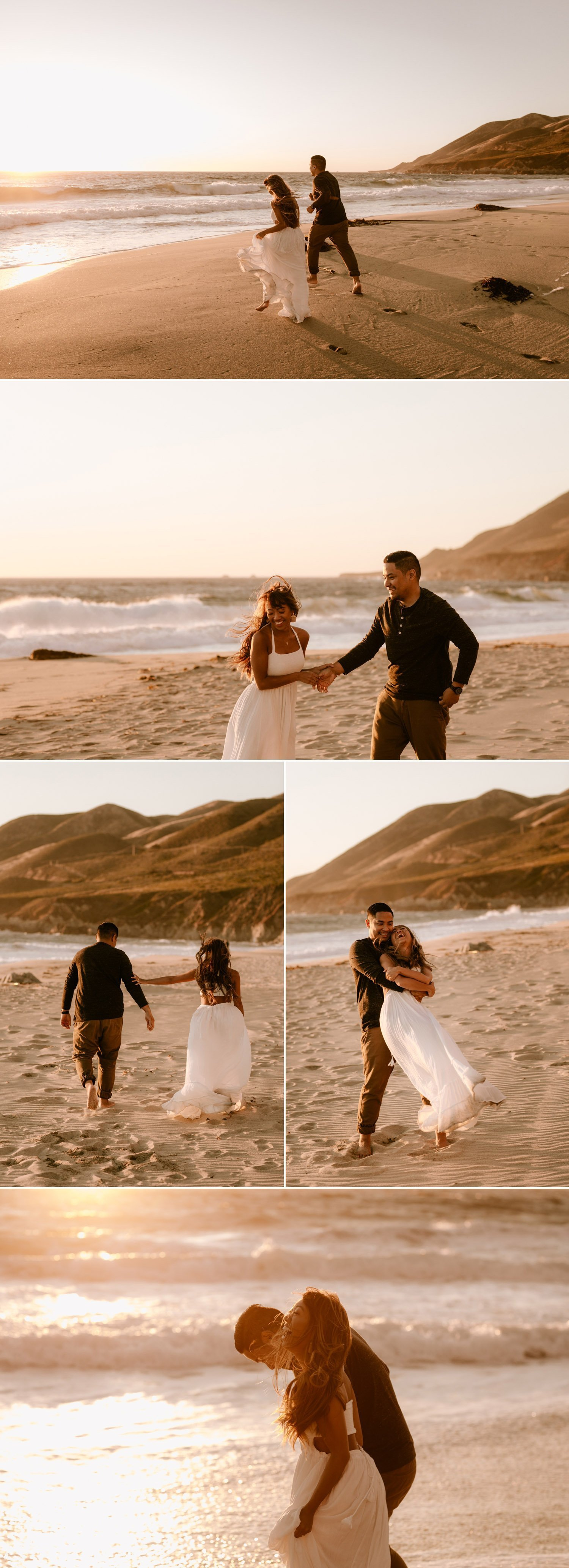 California beach engagement session in Big Sur by Paige Nelson