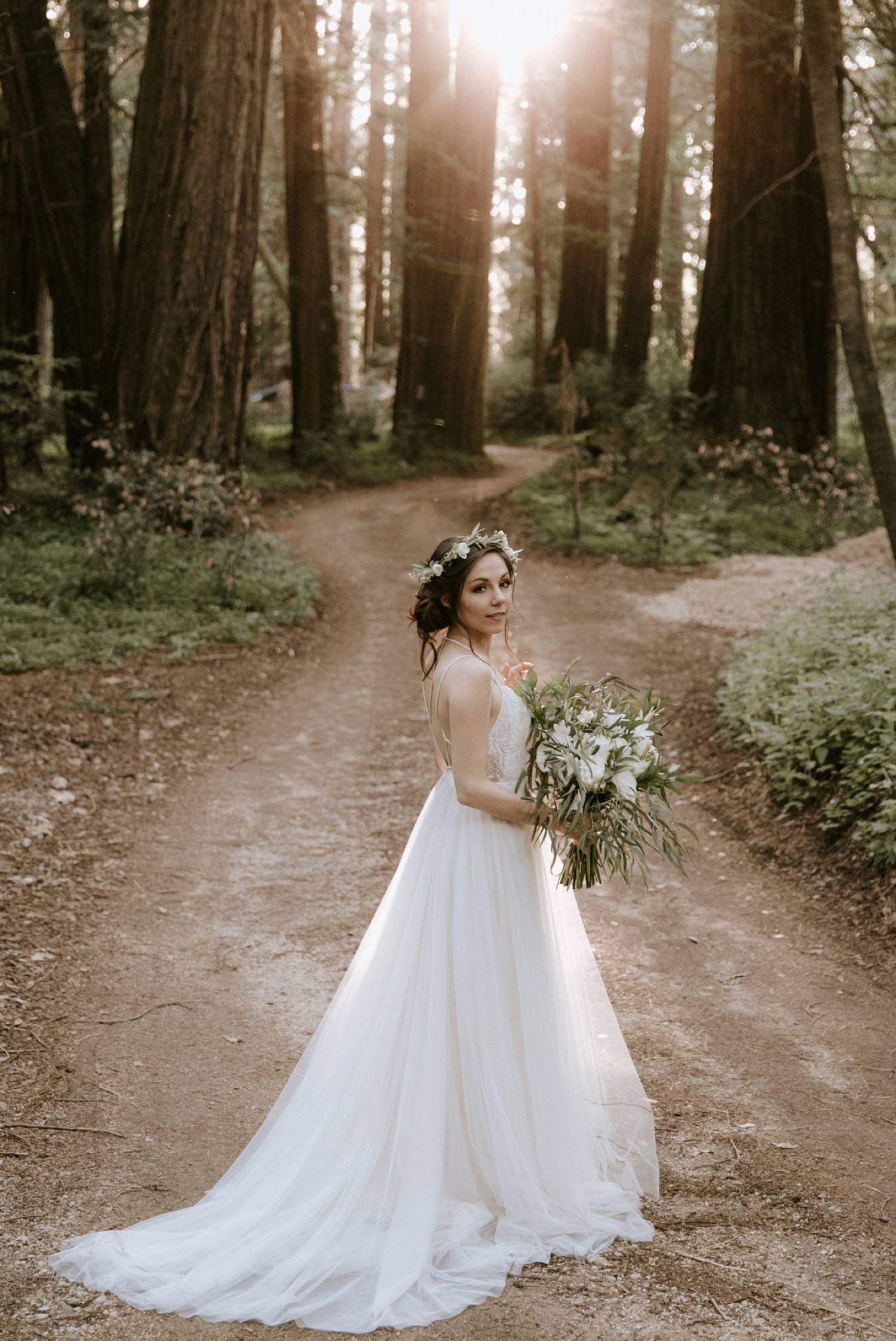 redwood forest bride big sur