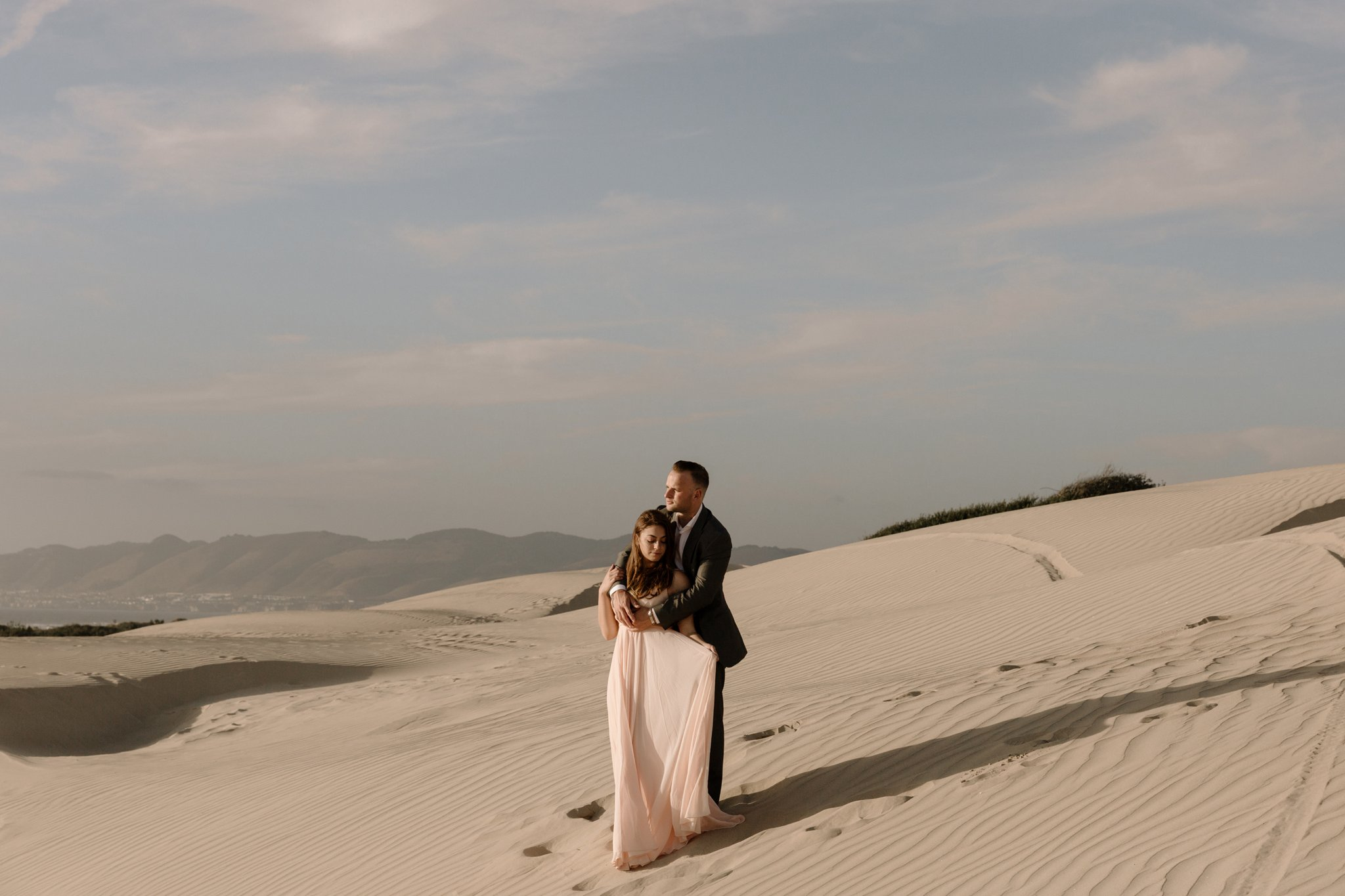 sand dunes engagement Pismo Beach