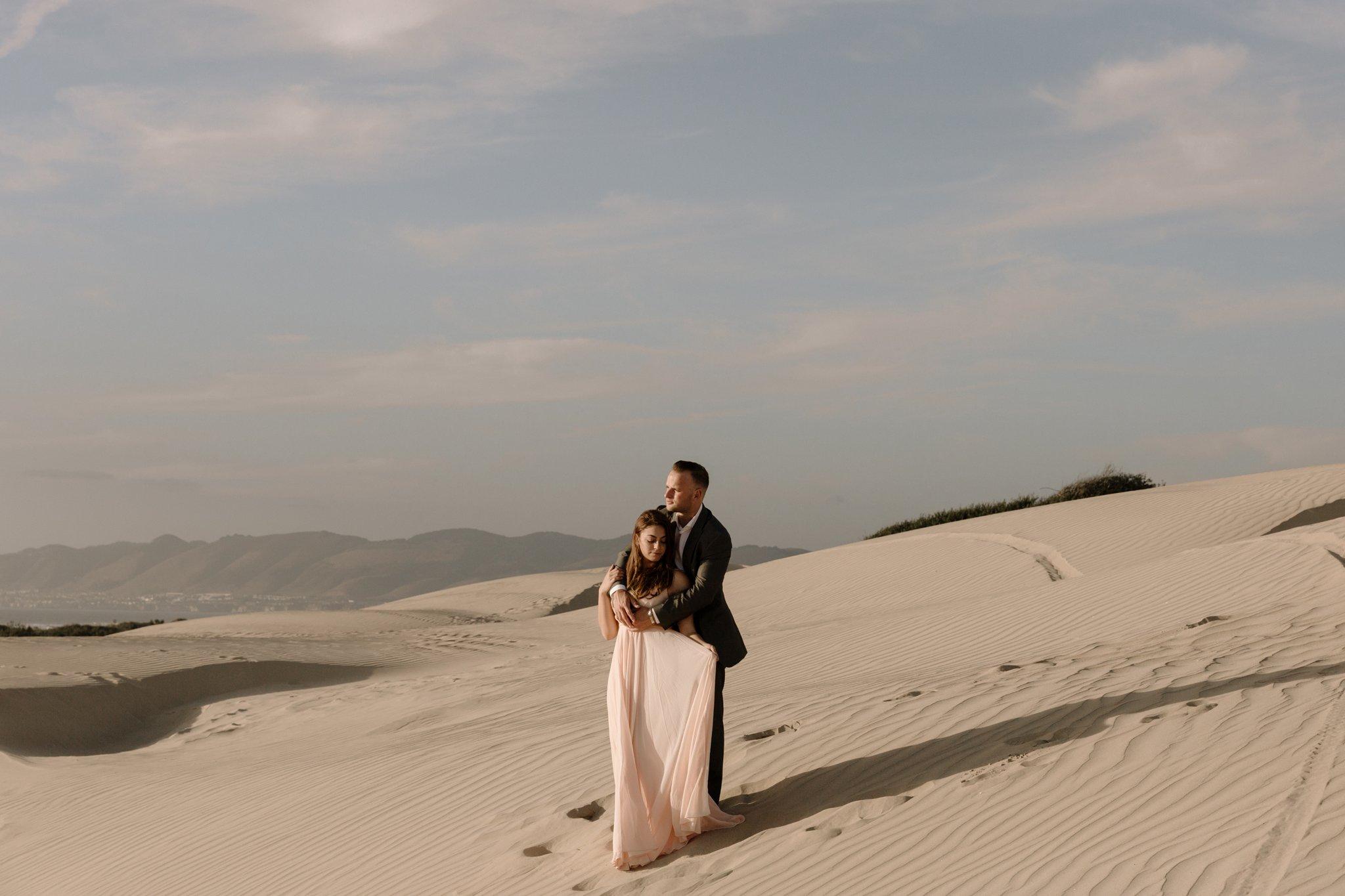 sand dunes engagement Pismo Beach