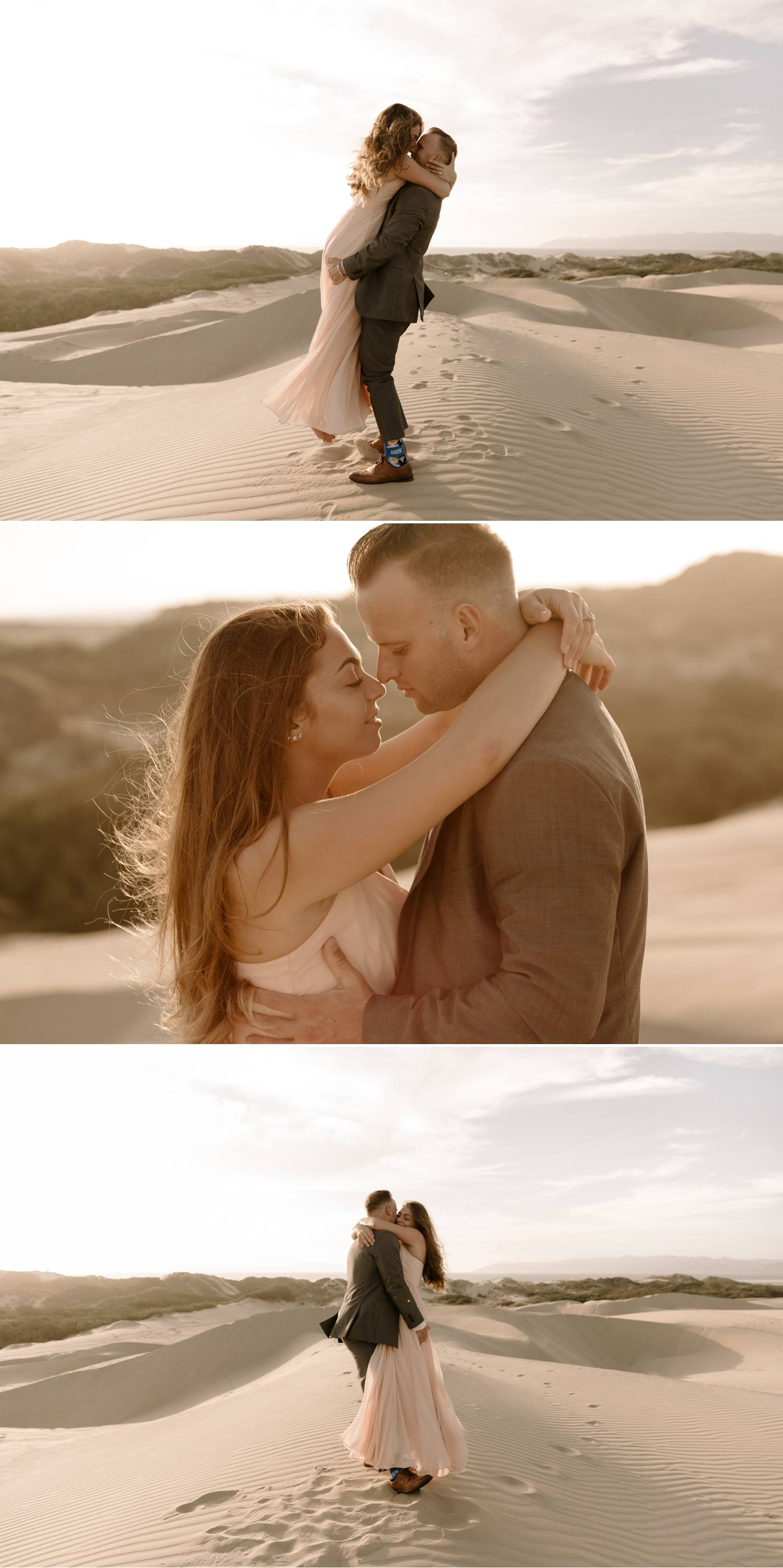 pismo beach engagement sand dunes
