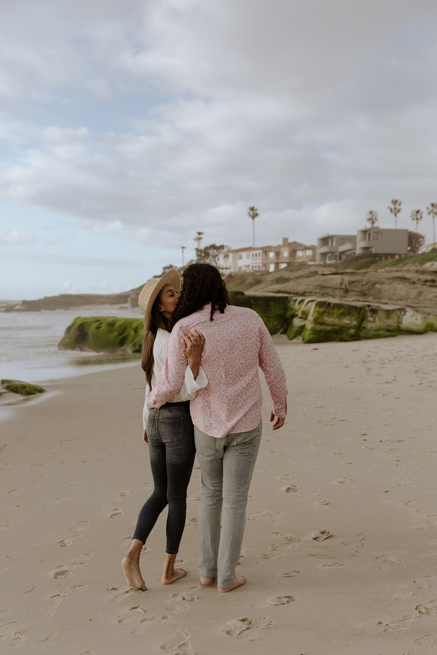 La Jolla Beach engagement San Diego