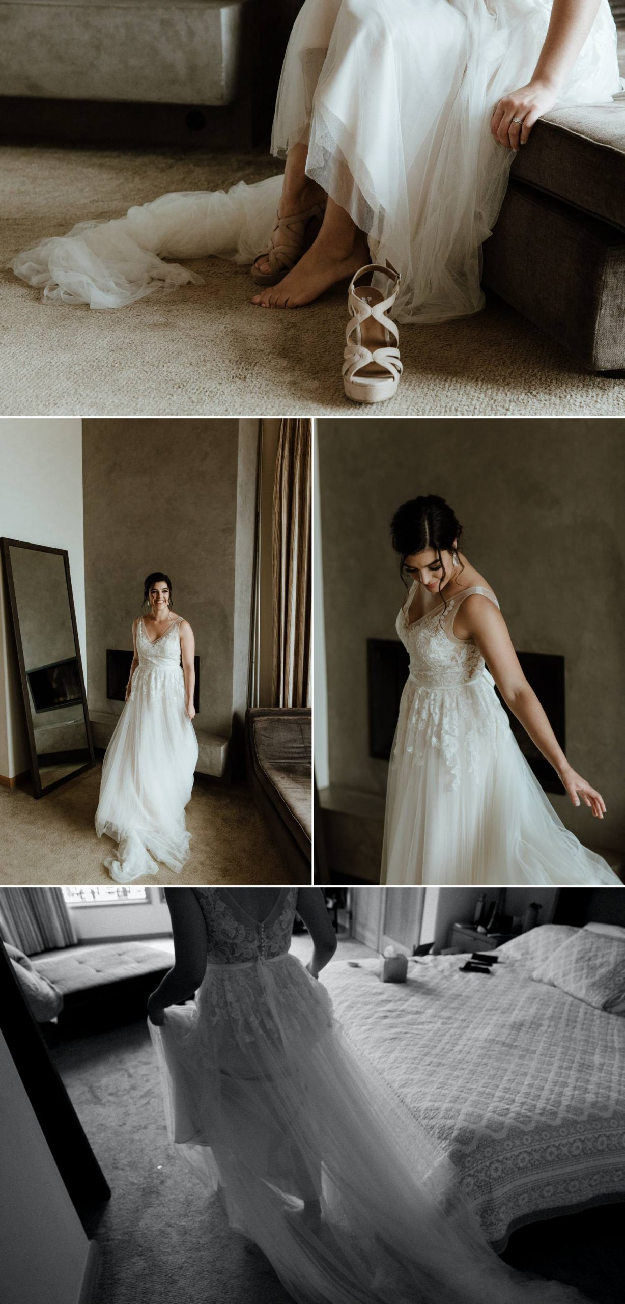 bride bhldn wedding dress intimate
