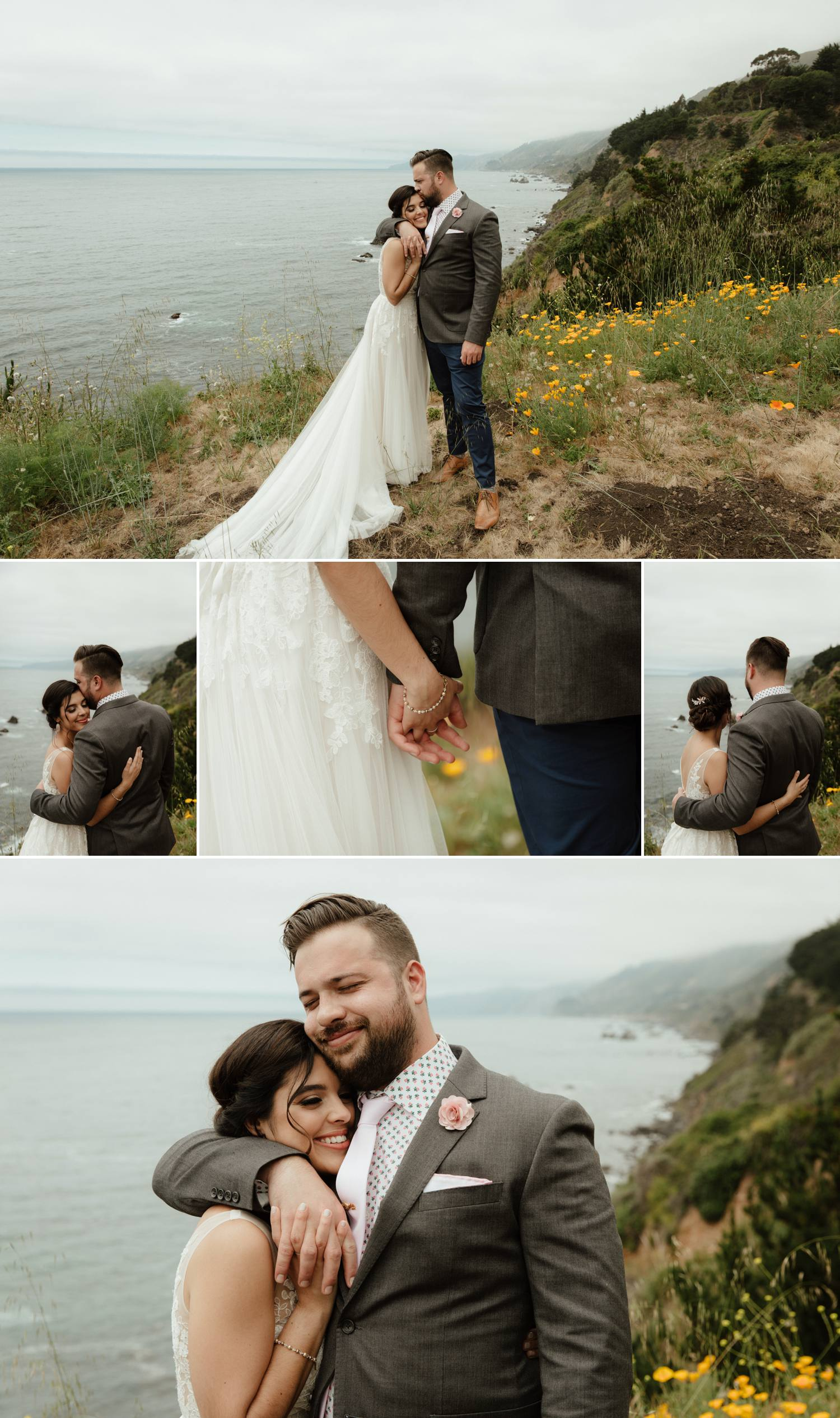 intimate elopement limekiln big sur