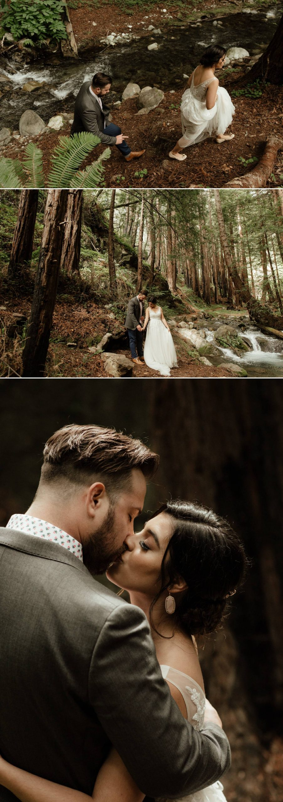 bride big sur intimate wedding