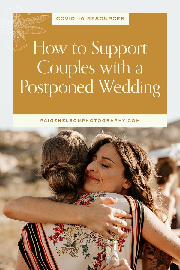 Support couples postponed wedding coronavirus