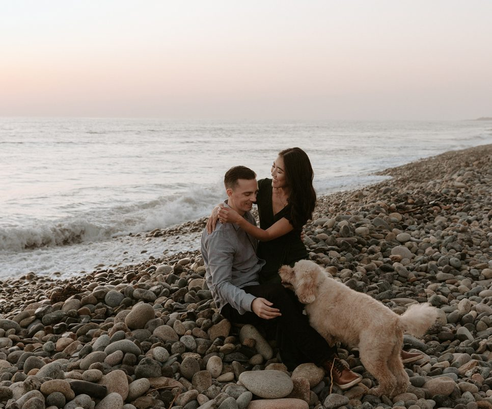 San Onofre Beach cliffside engagement