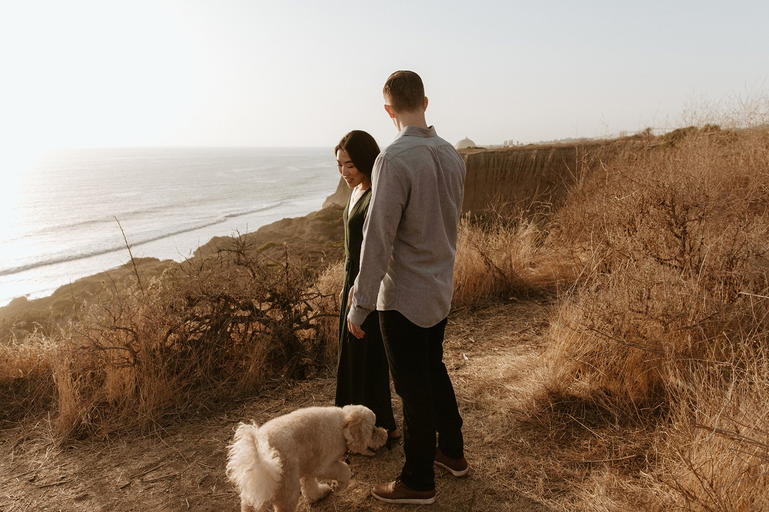 Cliffside engagement in San Onofre