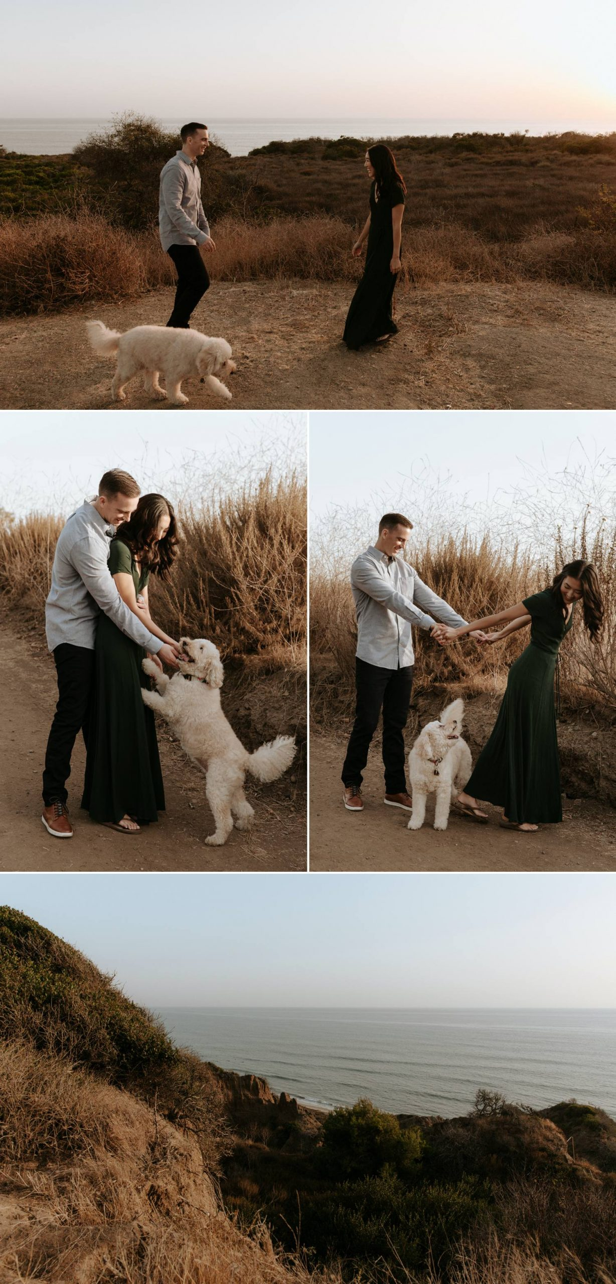 Cliffside engagement in Southern California