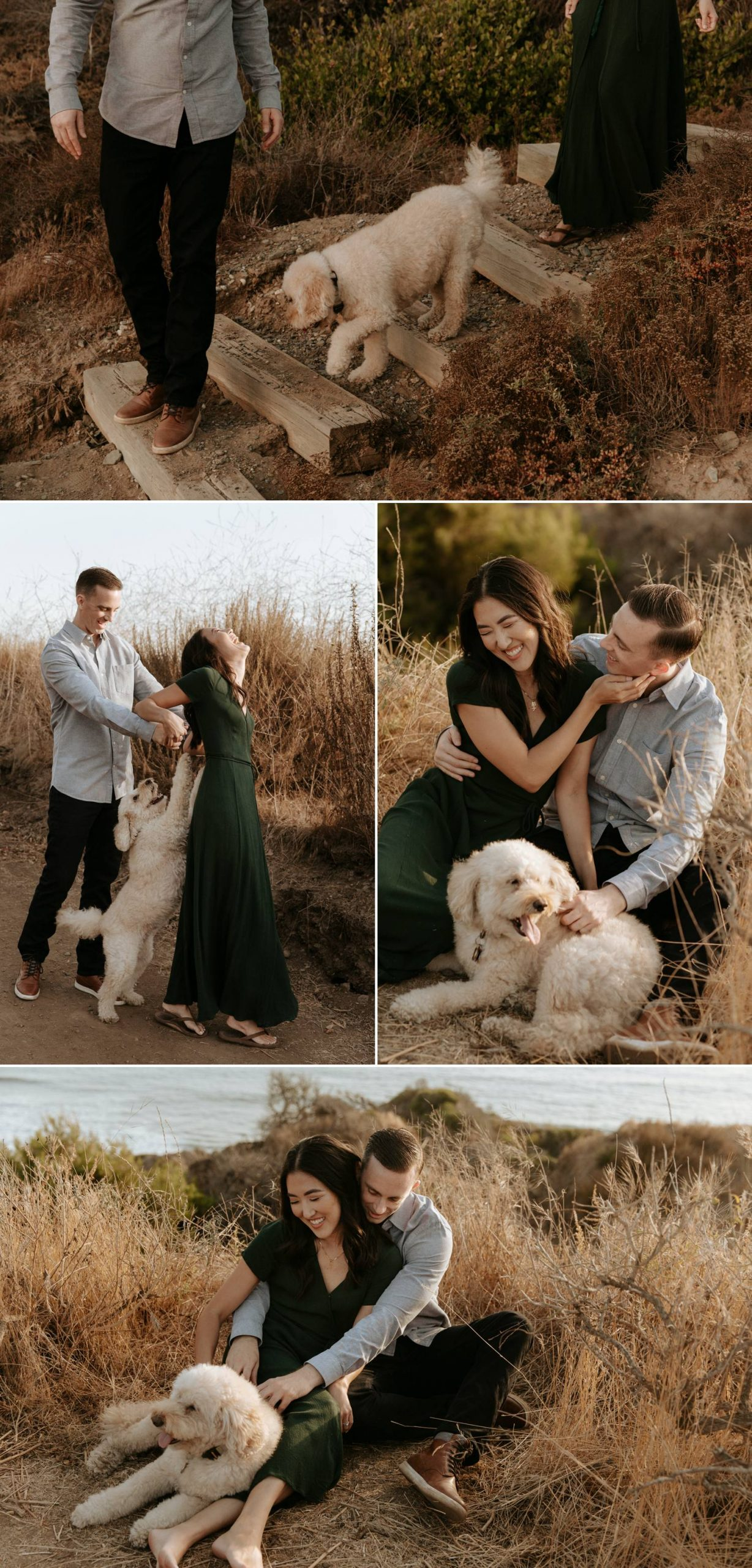Cliffside engagement in San Clemente