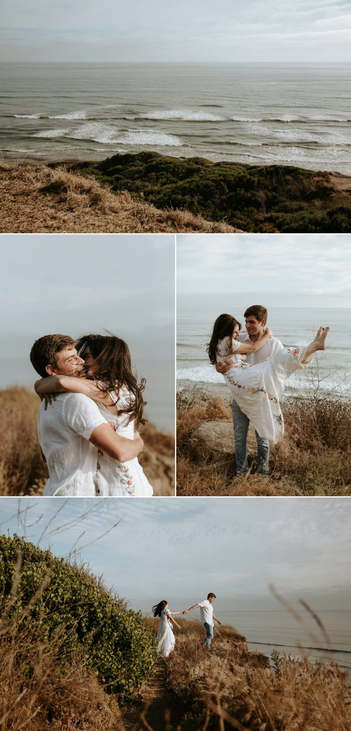 san onofre beach engagement cliffside